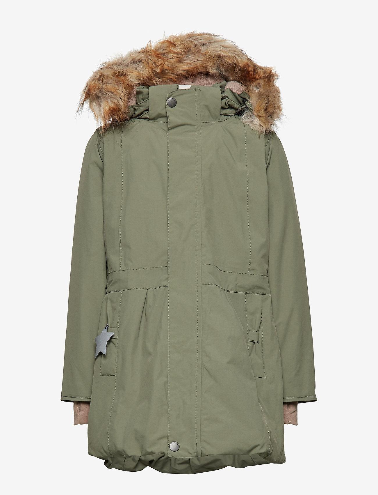 Mini A Ture - Viola Faux Fur Jacket, K - parkas - beetle - 1