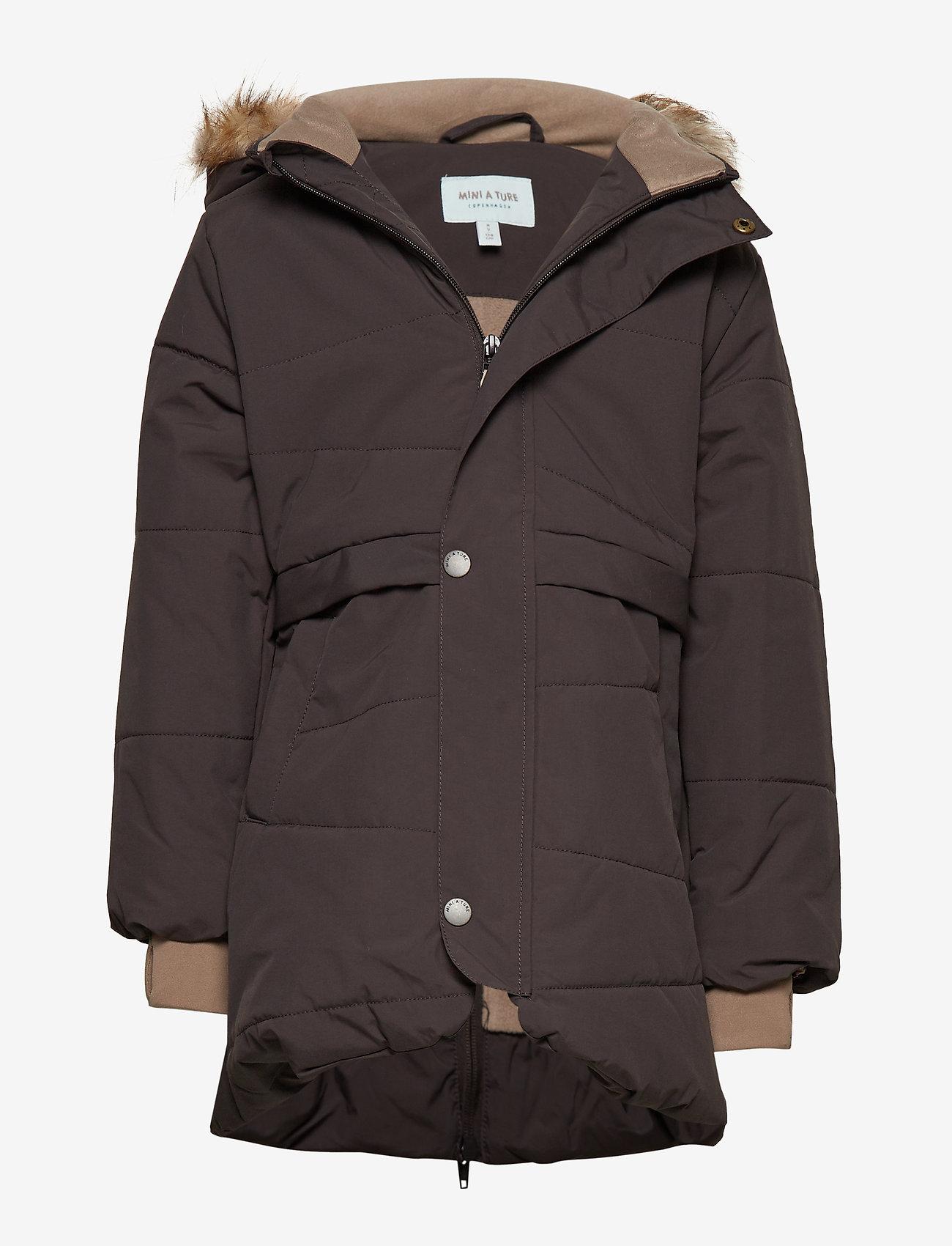 Mini A Ture - Witta Faux Fur Jacket, K - parkas - licorise - 0