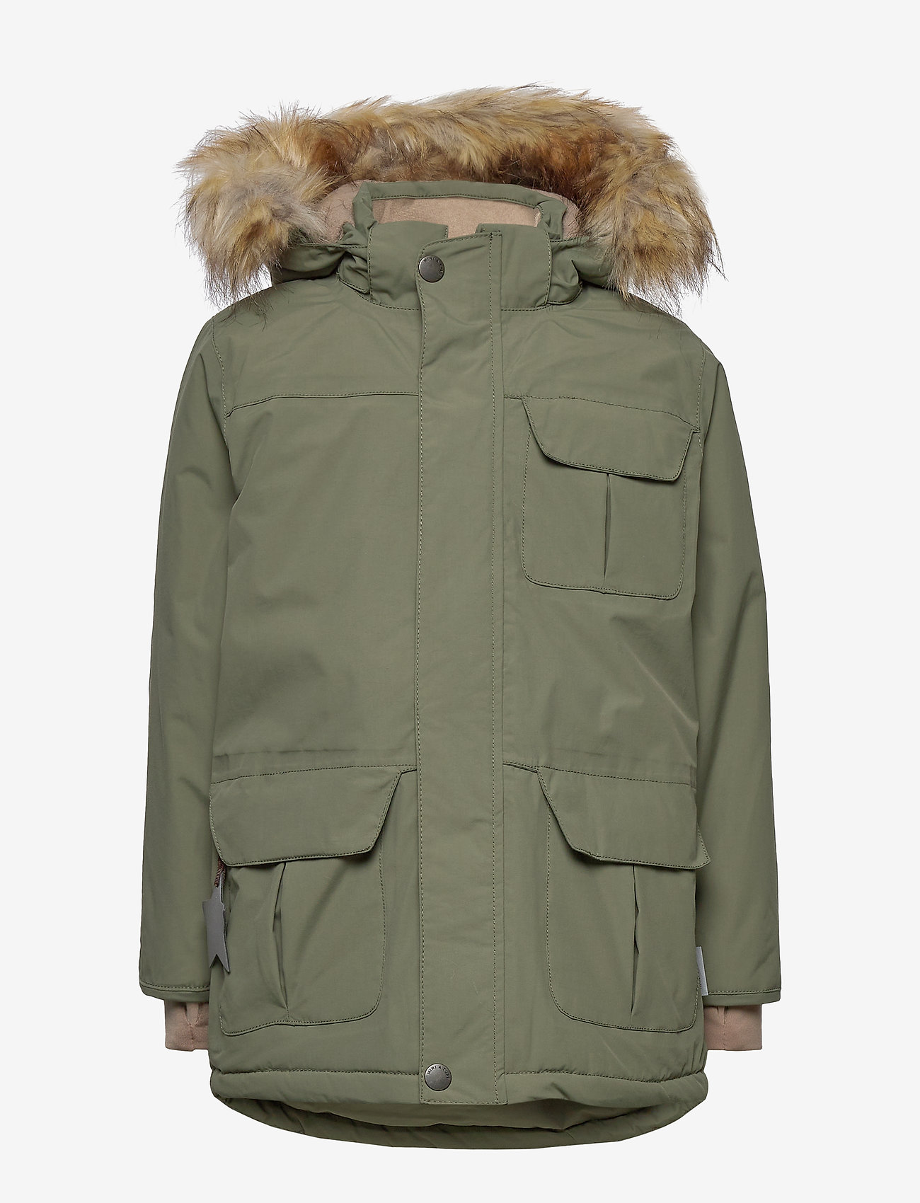 Mini A Ture - Walder Faux Fur Jacket, K - parkas - beetle - 1