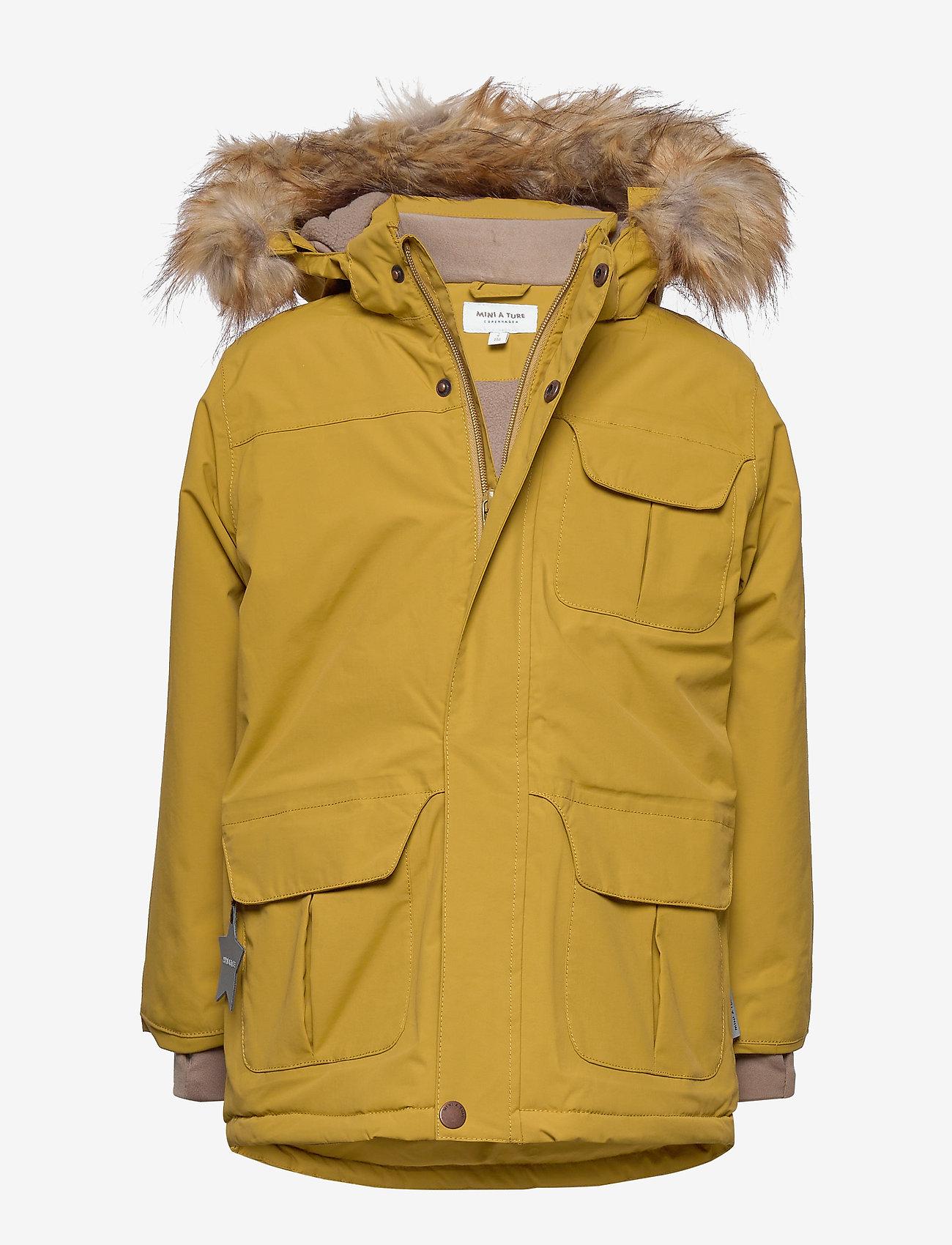 Mini A Ture - Walder Faux Fur Jacket, K - parkas - dried tobacco - 0