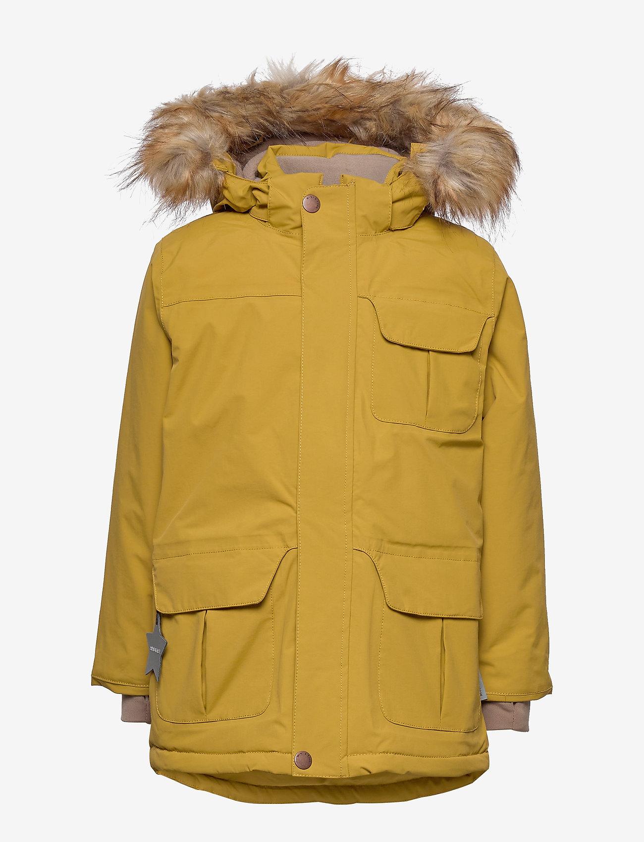Mini A Ture - Walder Faux Fur Jacket, K - parkas - dried tobacco - 1