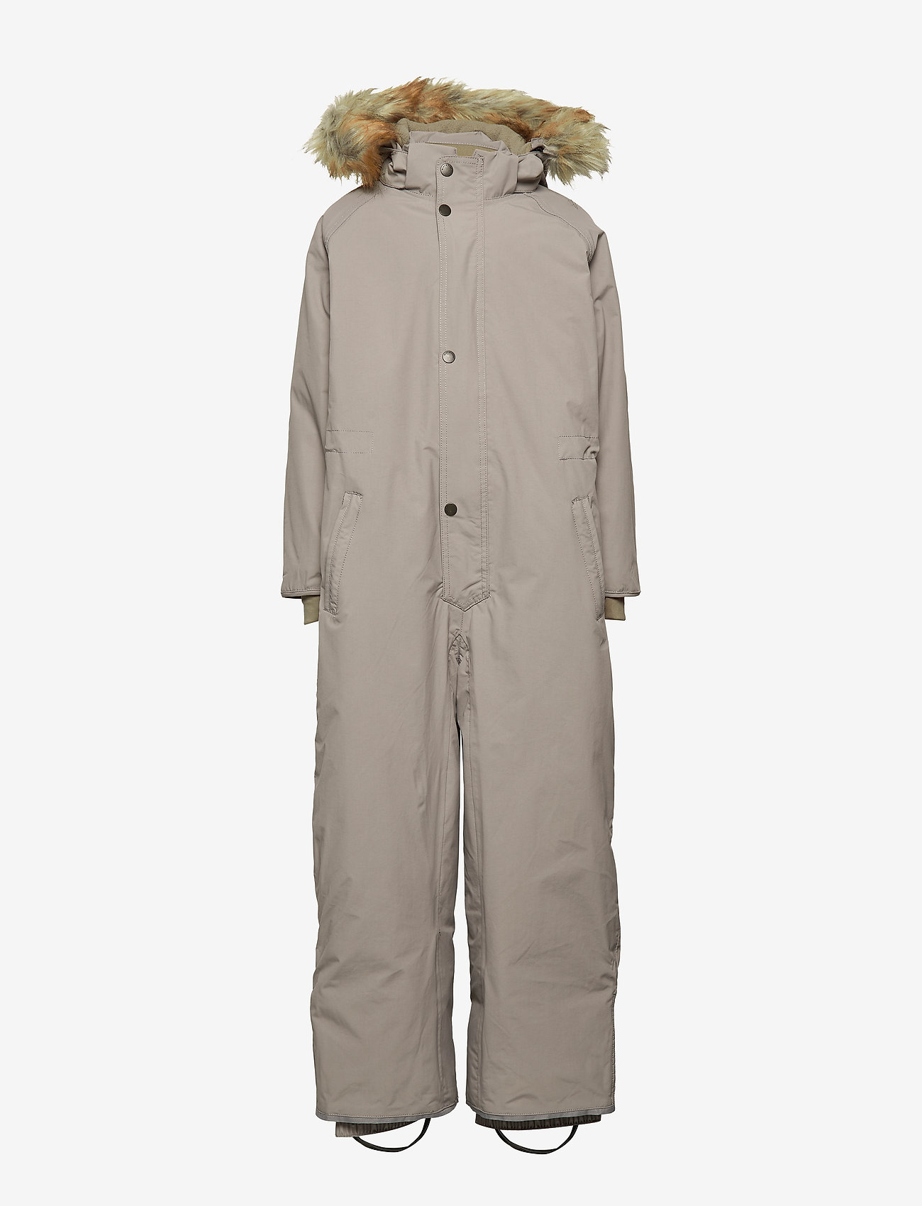 Mini A Ture - Wanni Faux Fur Snowsuit, K - vintertøj - cloudburst grey - 1