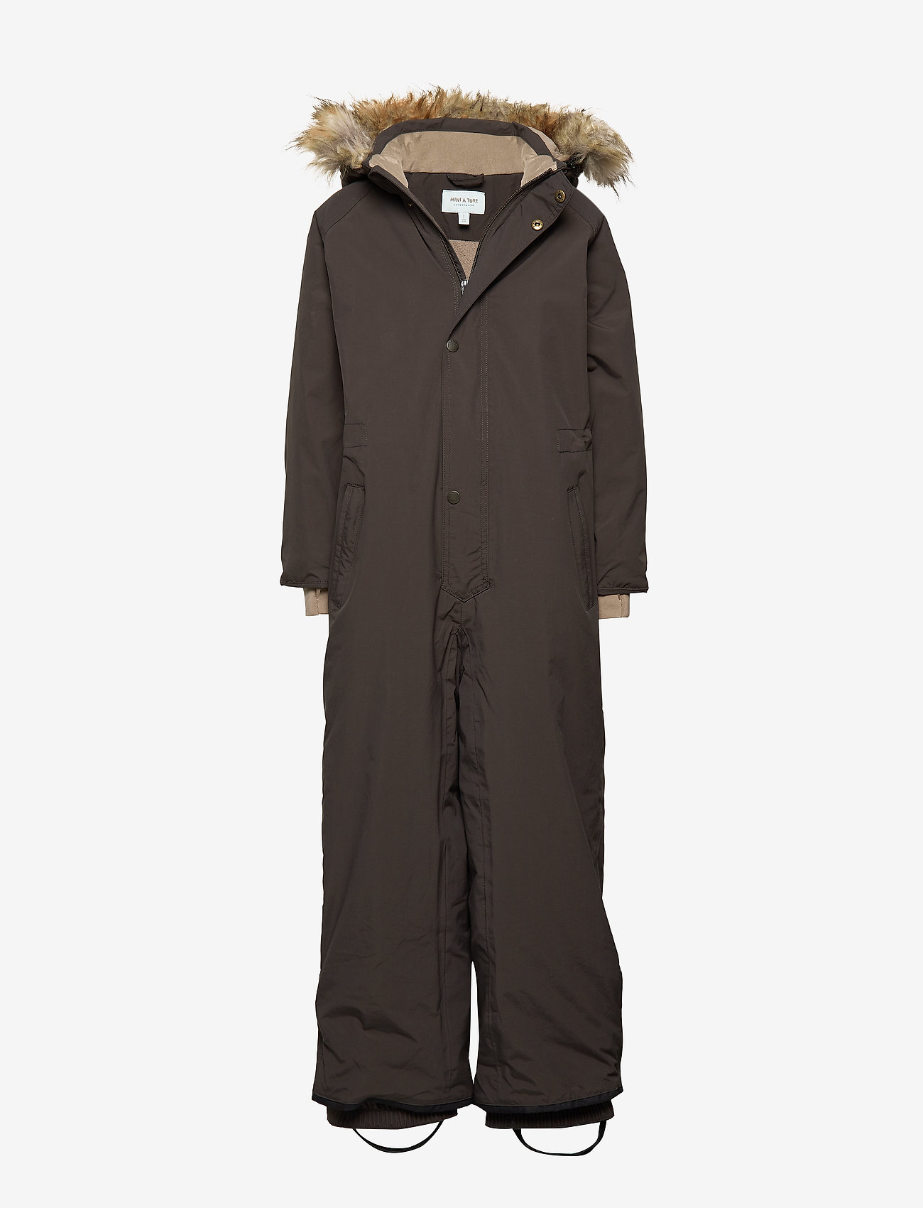 Mini A Ture - Wanni Faux Fur Snowsuit, K - vinterdress - licorise - 0