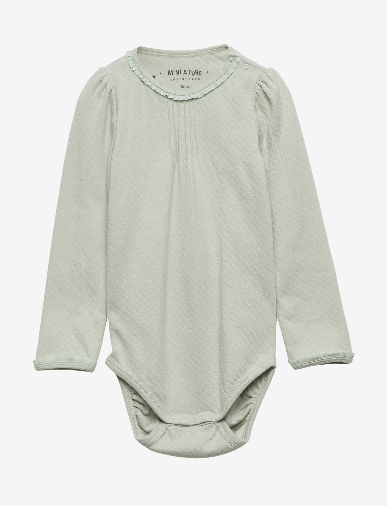 Mini A Ture - Akeleje Body, B - lange mouwen - puritan grey - 0