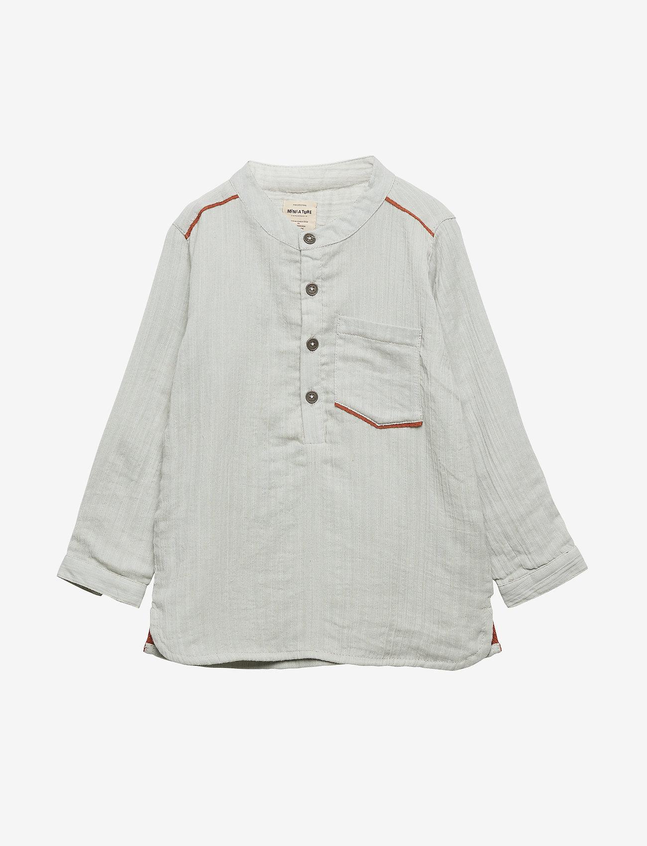Mini A Ture - Lai Shirt, M - overhemden - puritan grey - 0