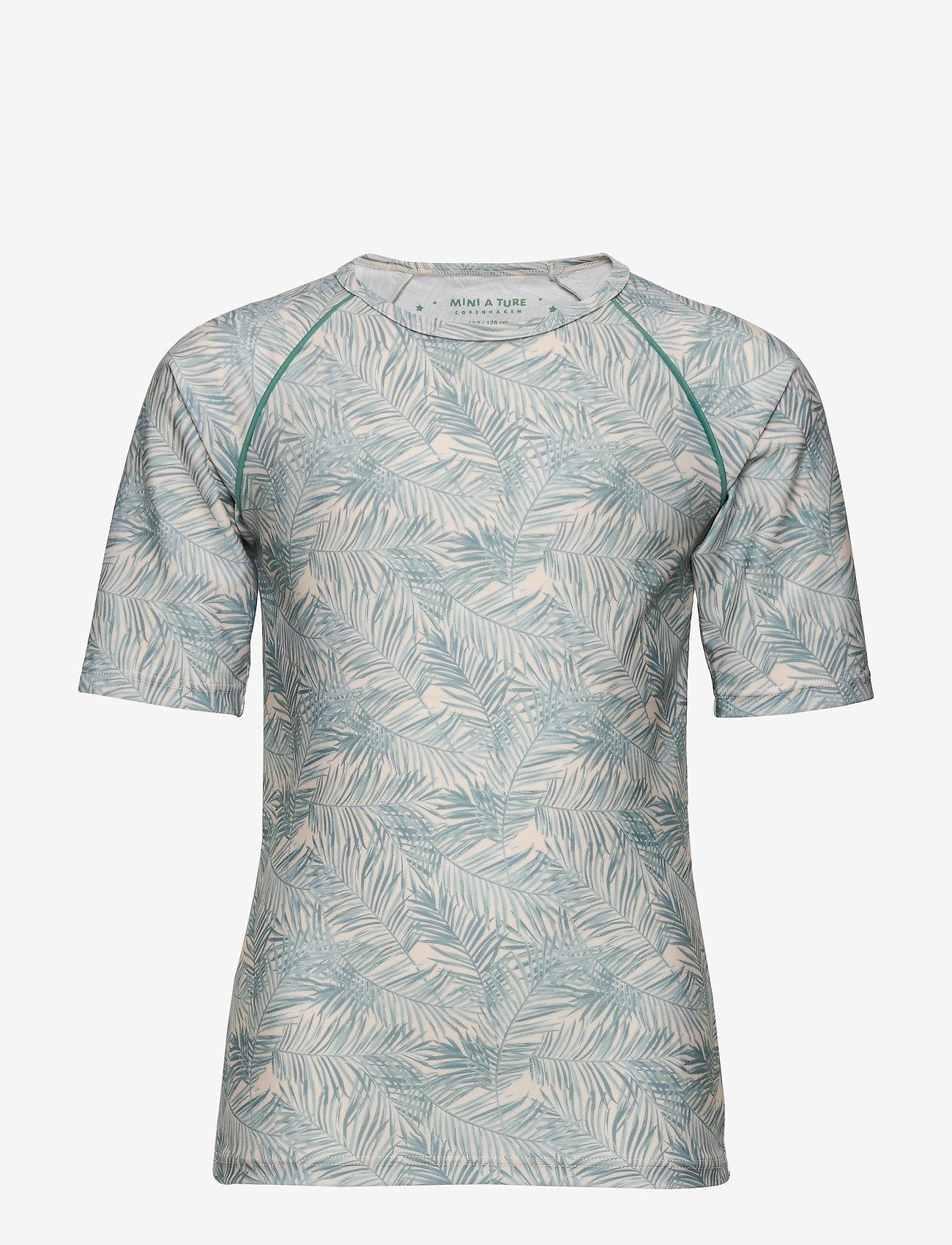 Mini A Ture - Gun T-shirt, K - badpakken - blue surf - 0