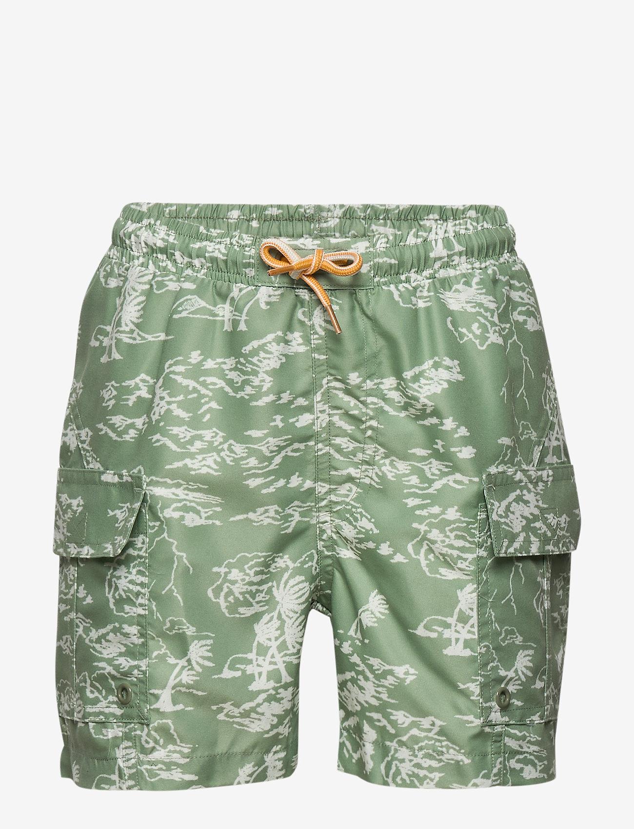 Mini A Ture - Mateo shorts, K - shorts de bain - green bay - 0