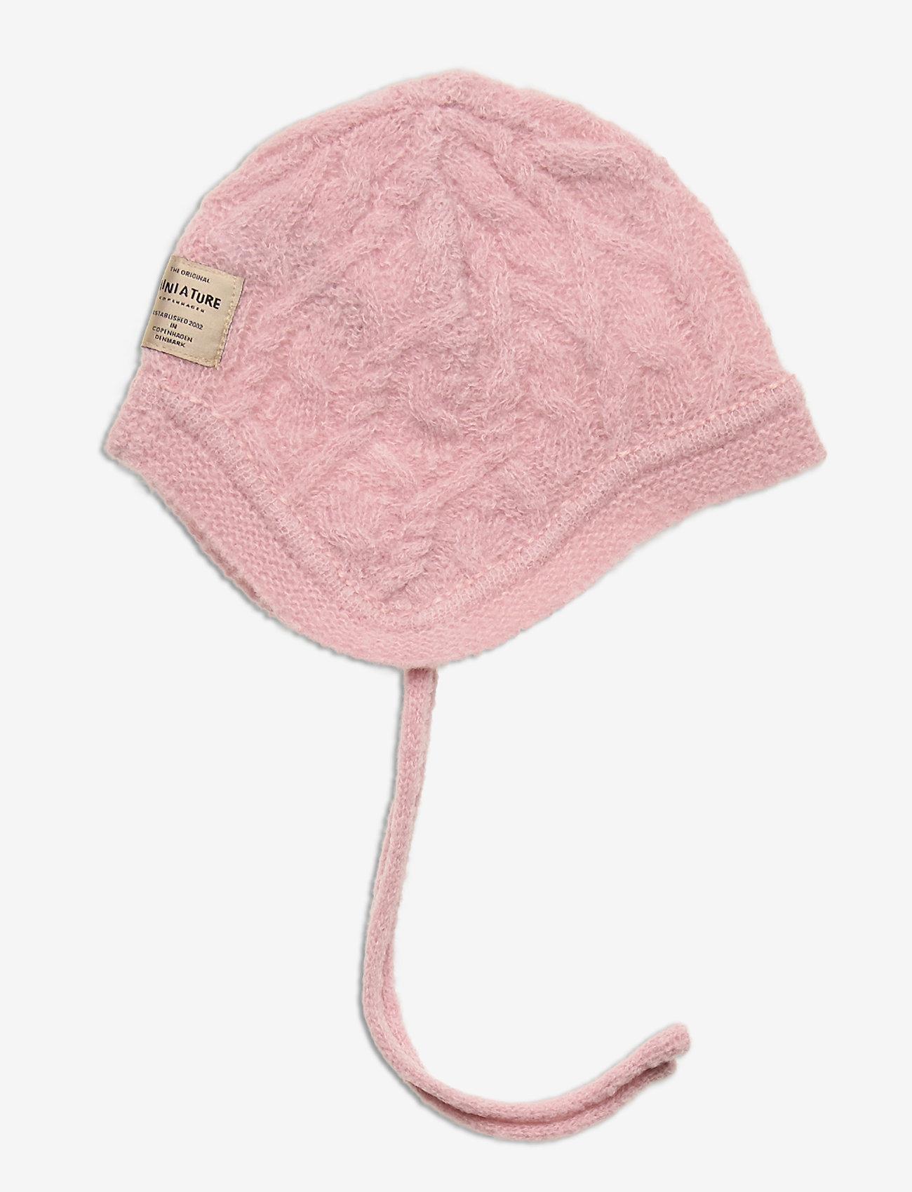 Mini A Ture - Filie Hood, BM - hatte og handsker - pale mauve - 0