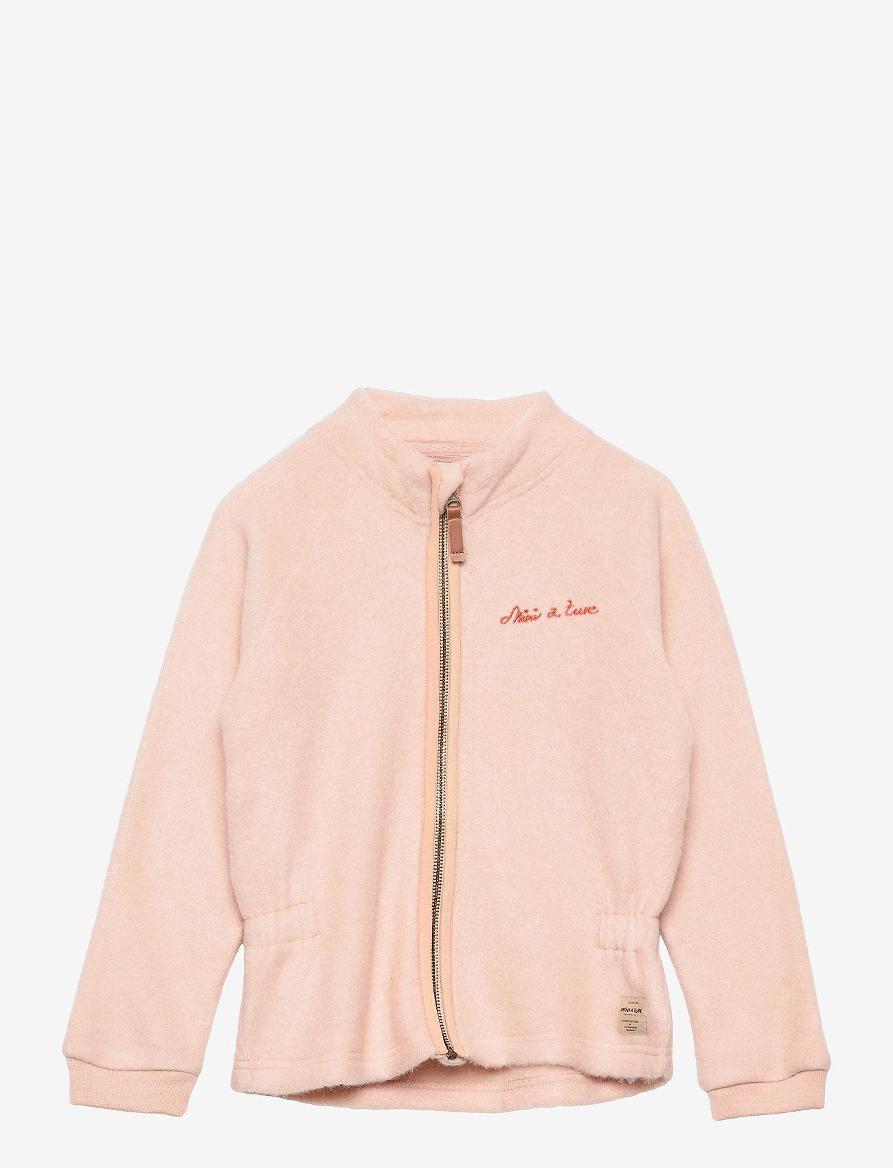 Mini A Ture - Lola Jacket, MK - fleecejakke - rose dust - 0