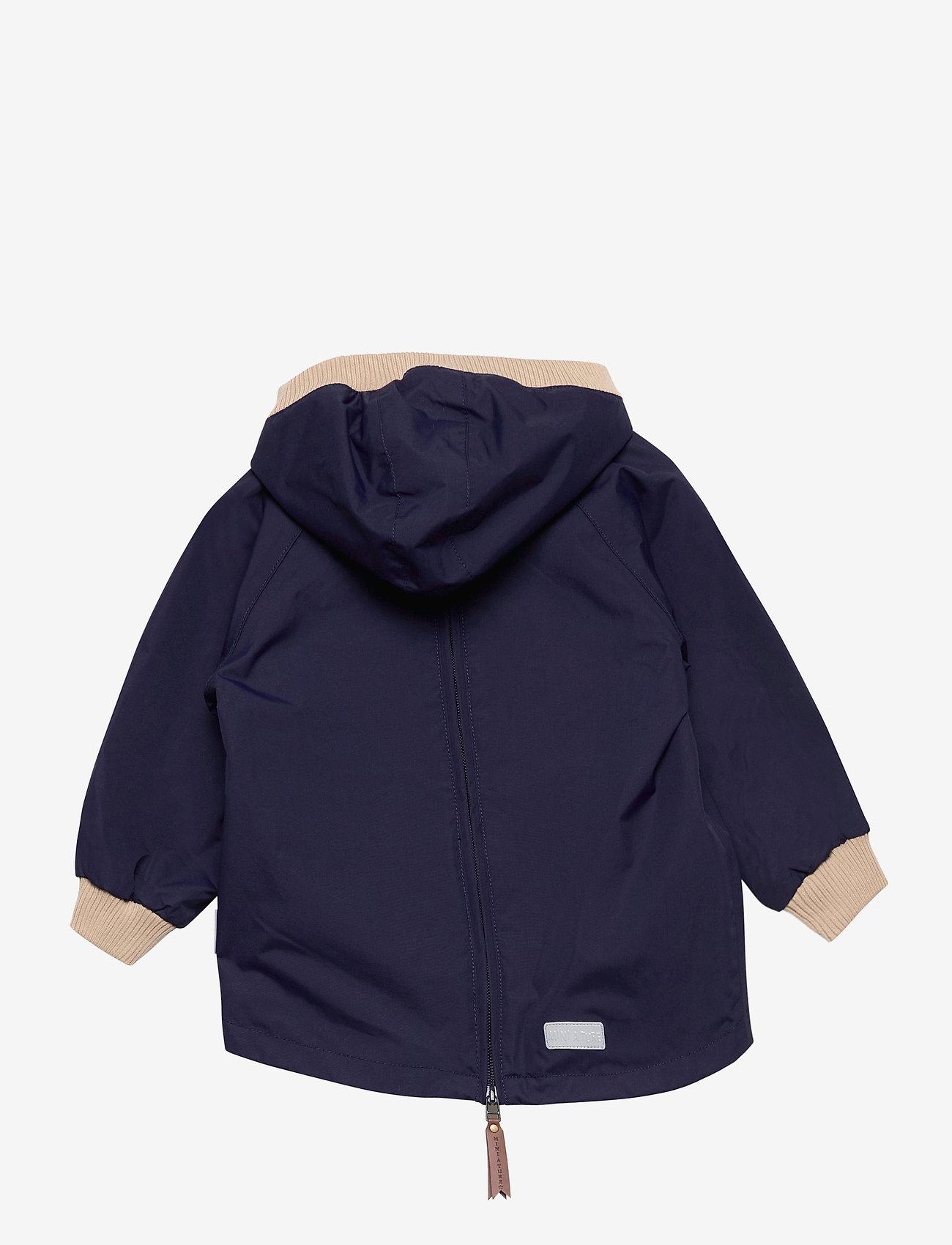 Mini A Ture - Baby Vito Fleece Anorak, M - shell jackets - maritime blue - 1