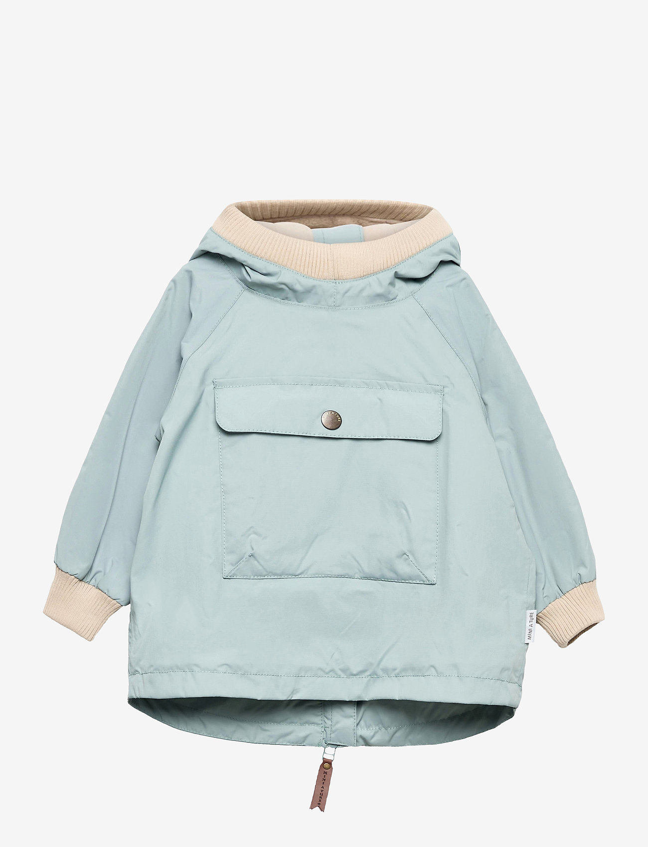 Mini A Ture - Baby Vito Fleece Anorak, M - shell jackets - slate blue - 0