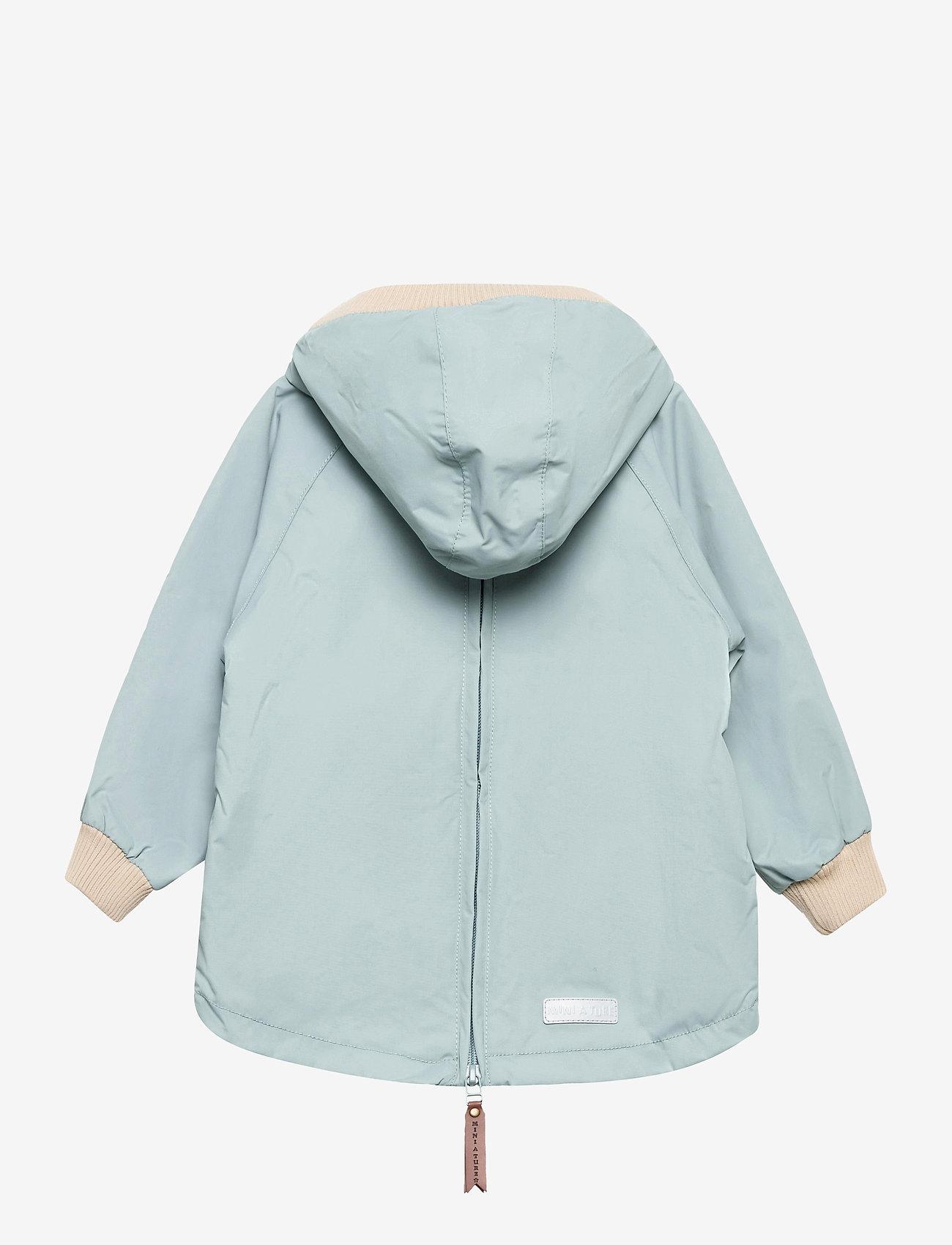 Mini A Ture - Baby Vito Fleece Anorak, M - shell jackets - slate blue - 1