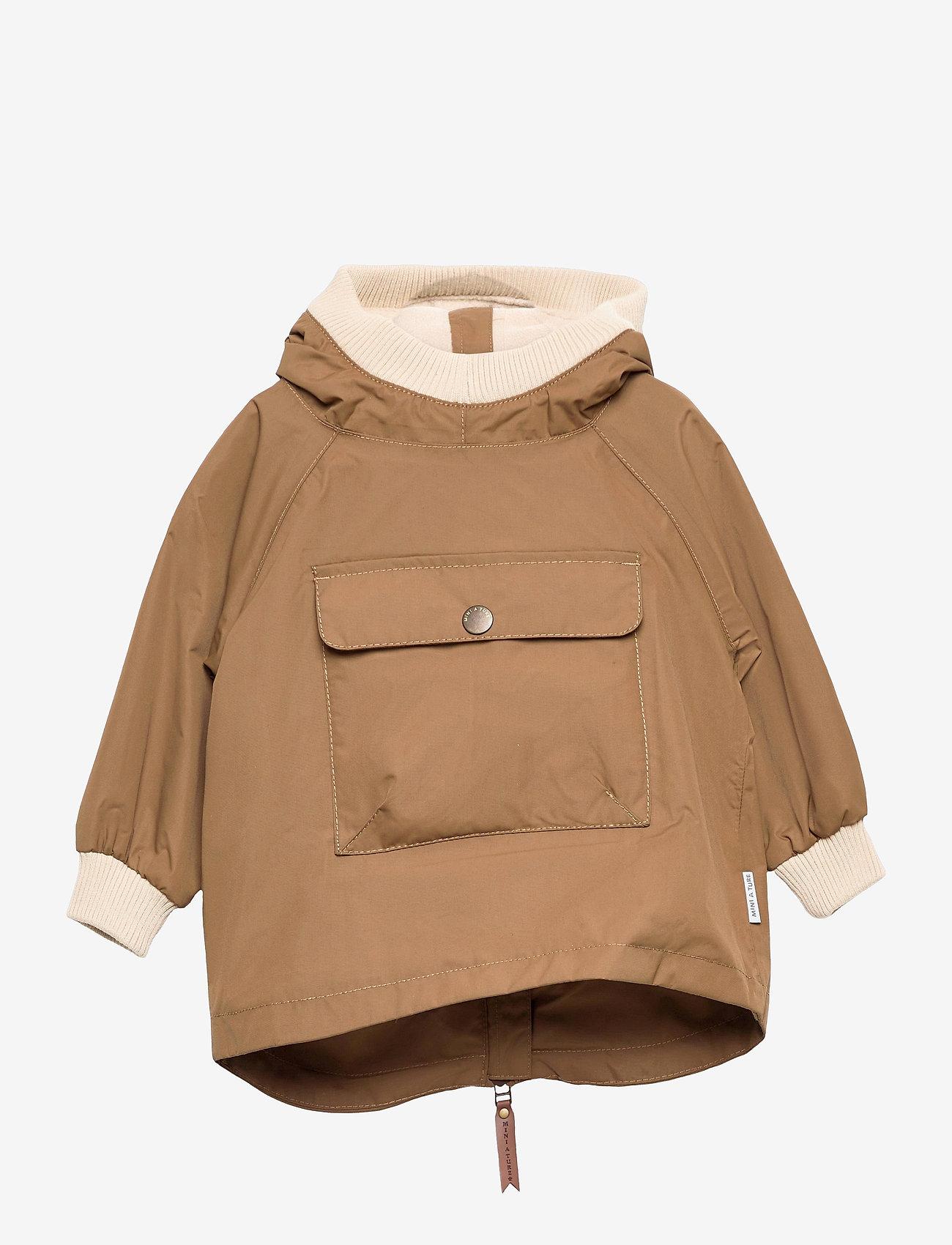 Mini A Ture - Baby Vito Fleece Anorak, M - shell jackets - wood - 0