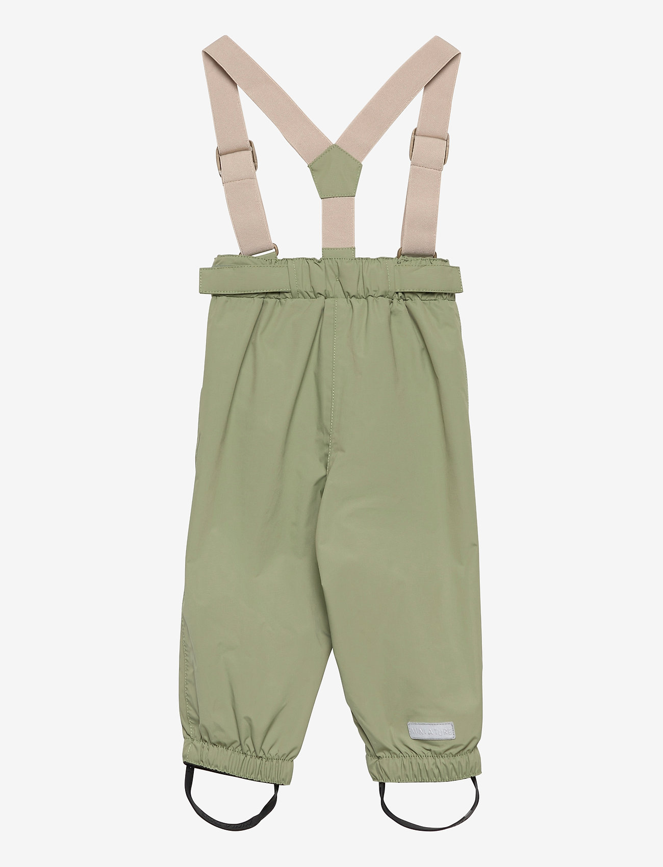 Mini A Ture - Wilans Suspenders Pants, BM - outerwear - oil green - 1