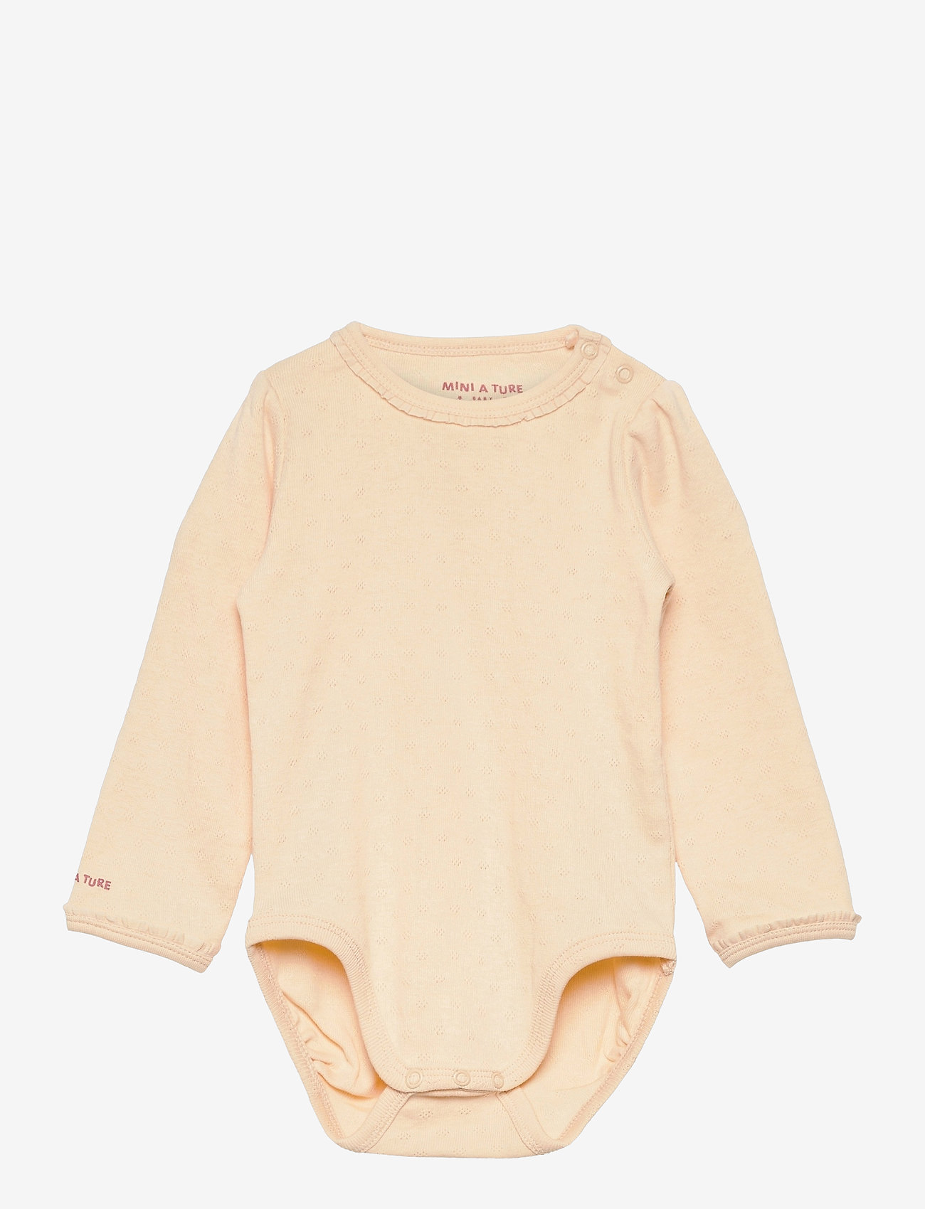 Mini A Ture - Akeleje Body GOTS, B - long-sleeved - apricot gelato - 0