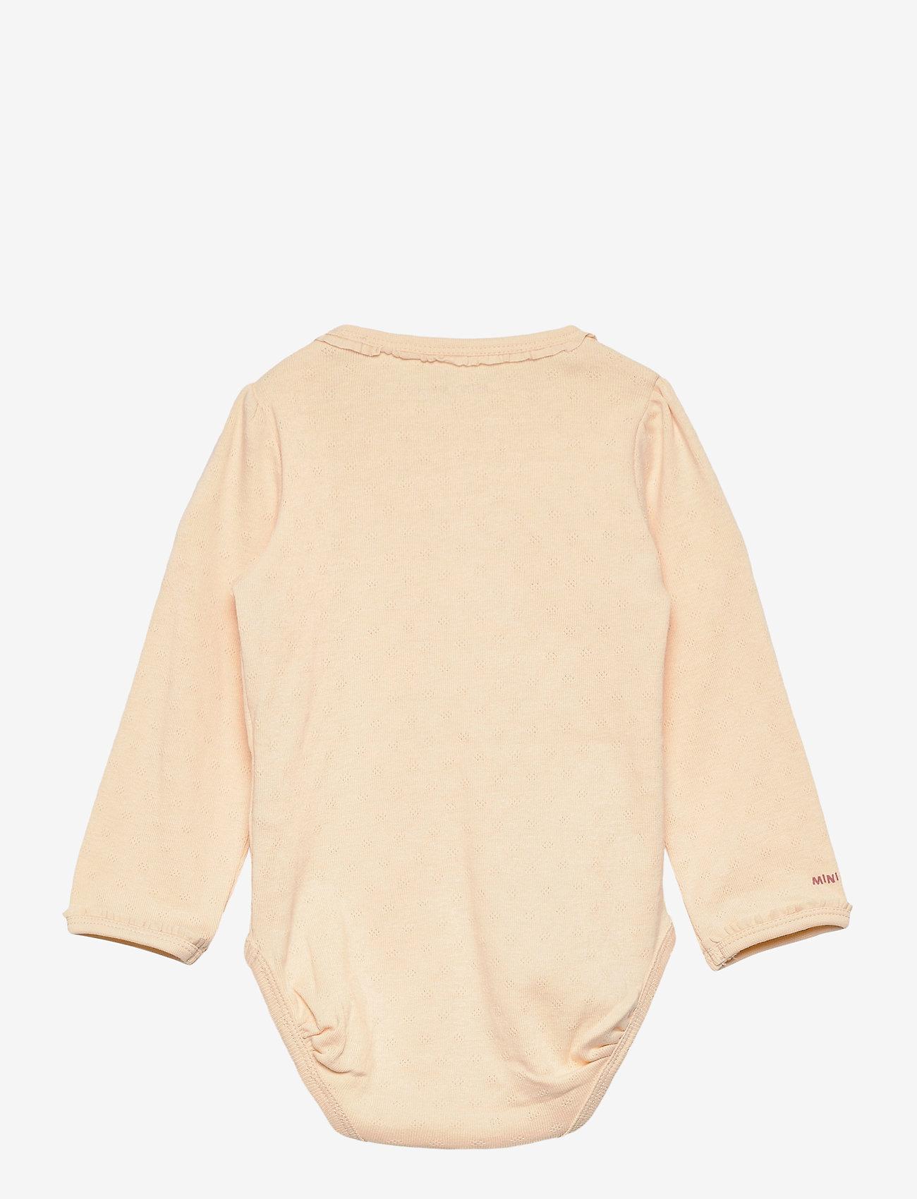 Mini A Ture - Akeleje Body GOTS, B - long-sleeved - apricot gelato - 1