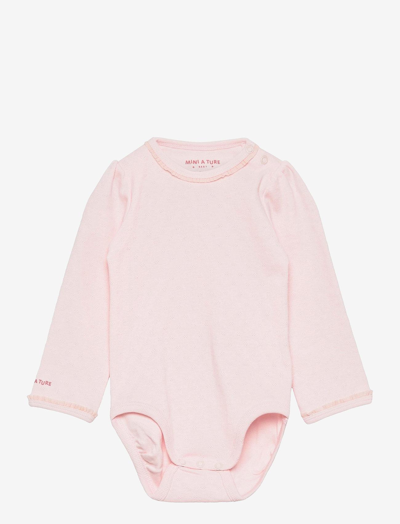 Mini A Ture - Akeleje Body GOTS, B - long-sleeved - mauve chalk - 0