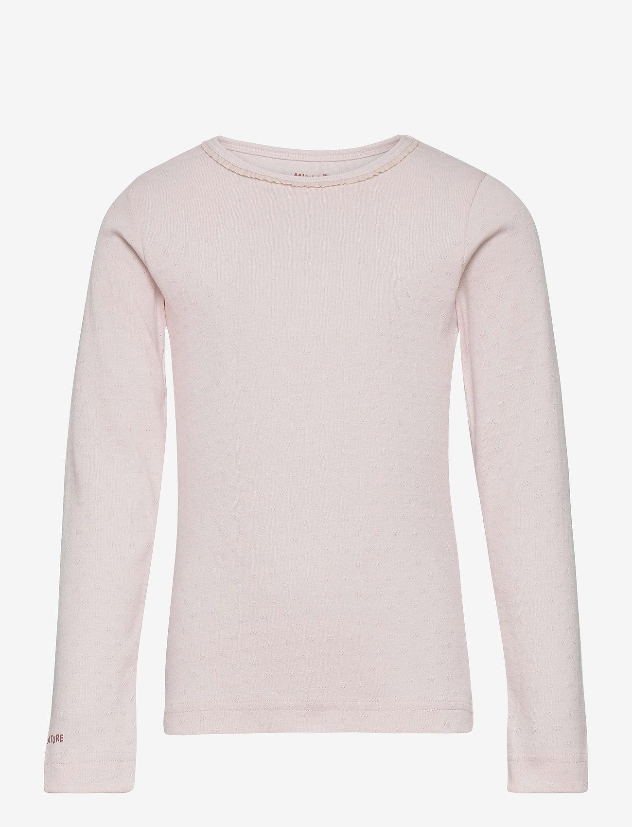 Mini A Ture - Aje T-shirt GOTS, K - long-sleeved - mauve chalk - 0
