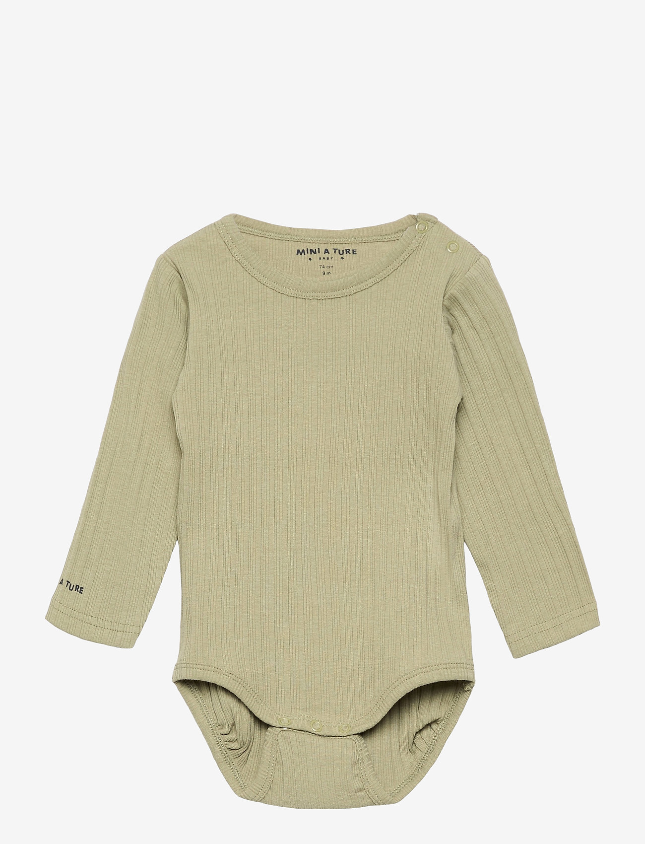 Mini A Ture - Yomi Body GOTS, B - long-sleeved - oil green - 0