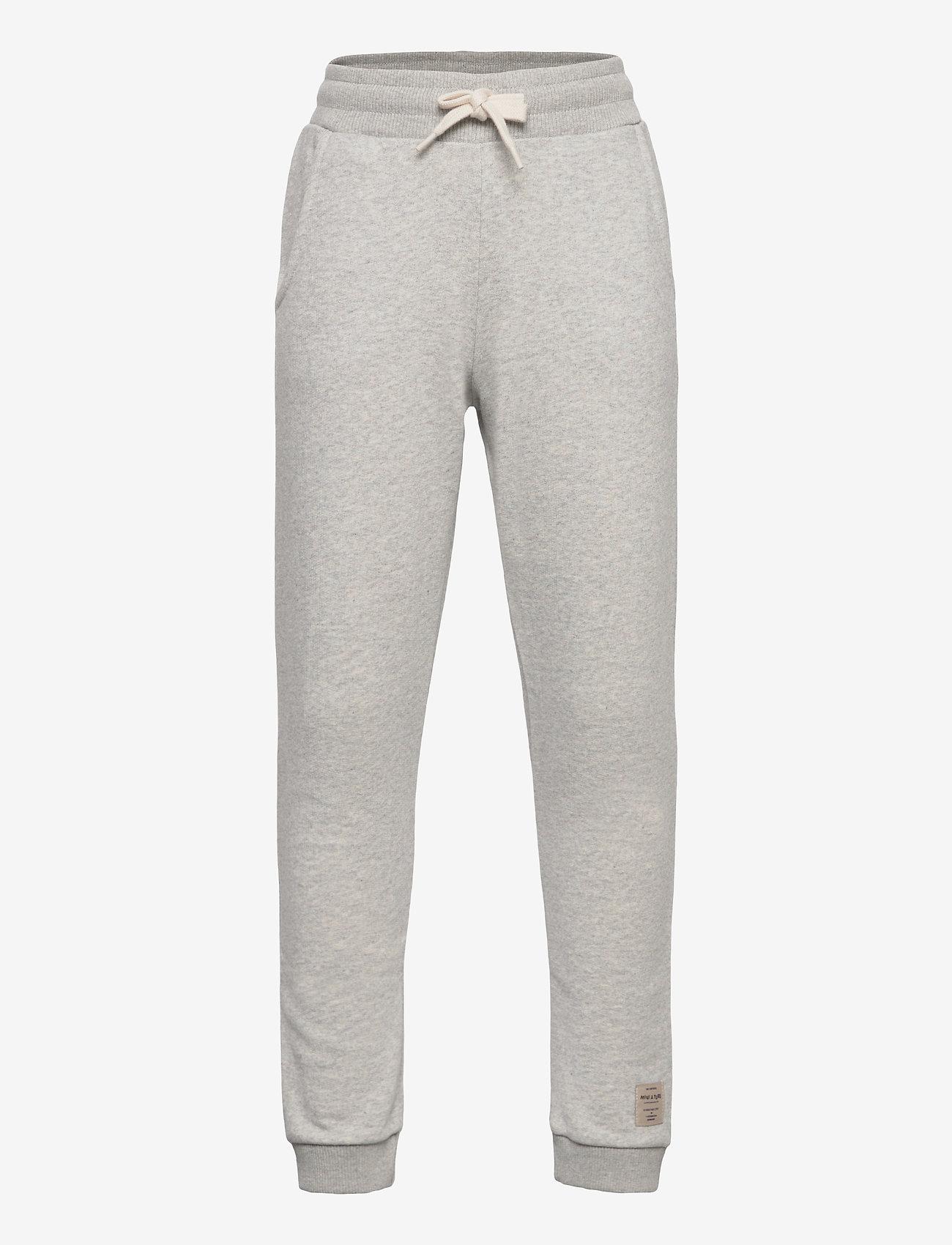 Mini A Ture - Even pants, K - sweatpants - light grey melange - 0