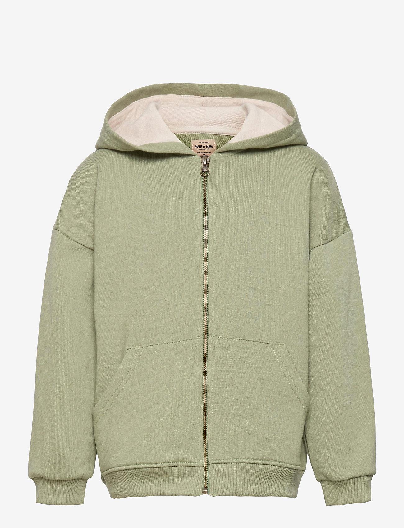 Mini A Ture - Alfi Zip Hoodie, K - hoodies - oil green - 0