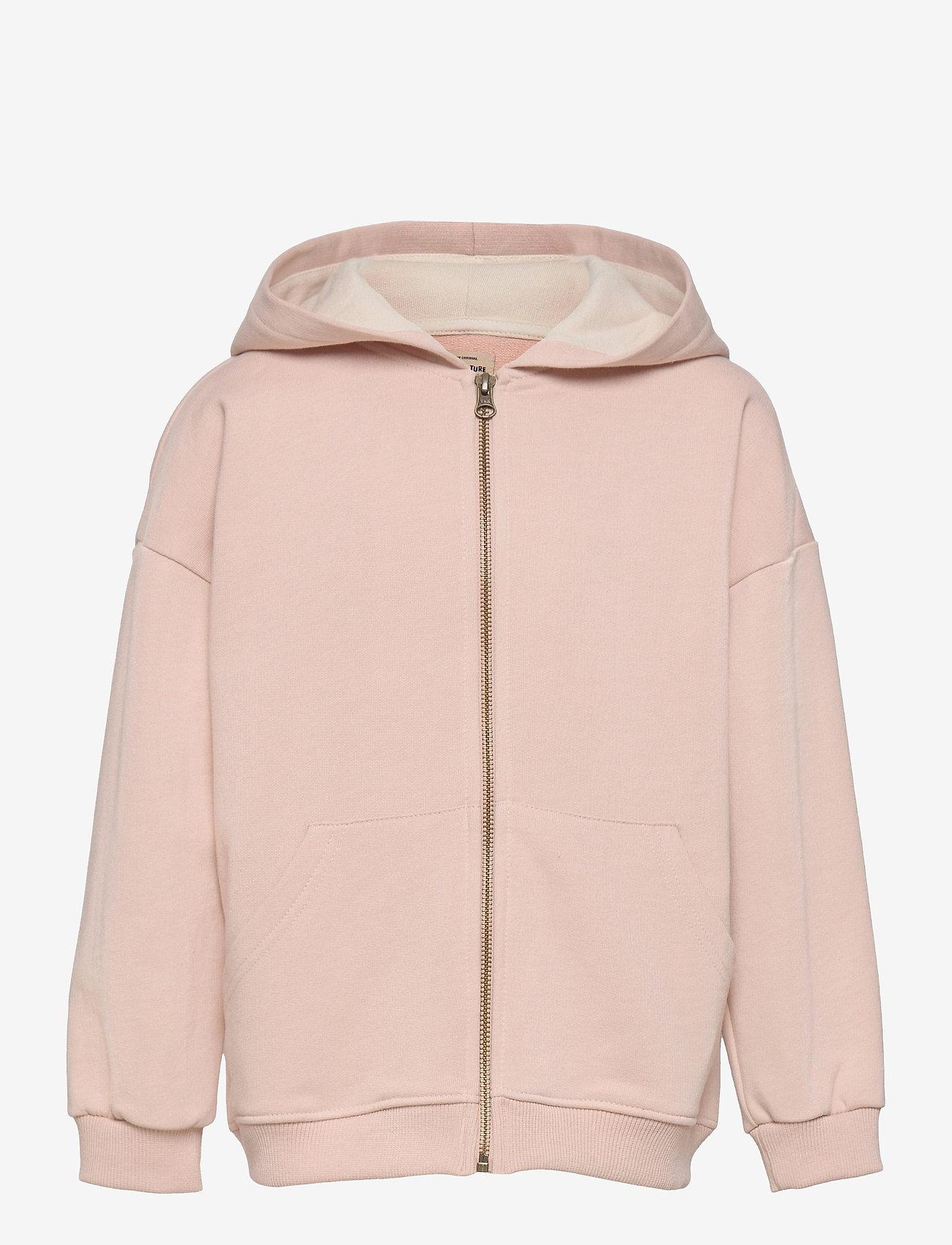 Mini A Ture - Alfi Zip Hoodie, K - hoodies - rose dust - 0