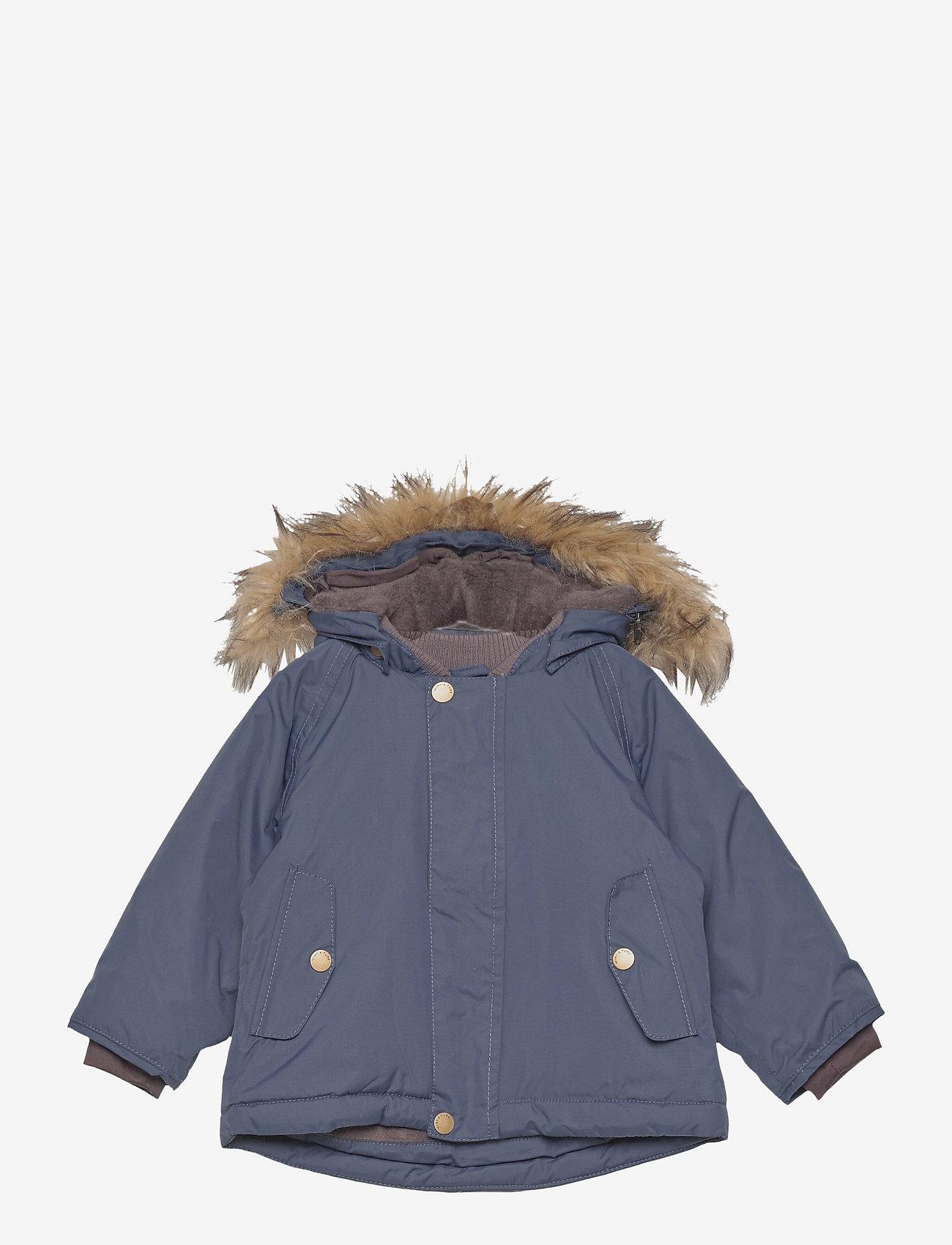 Mini A Ture - Wally Fake Fur Jacket, M - winter jacket - blue nights - 0