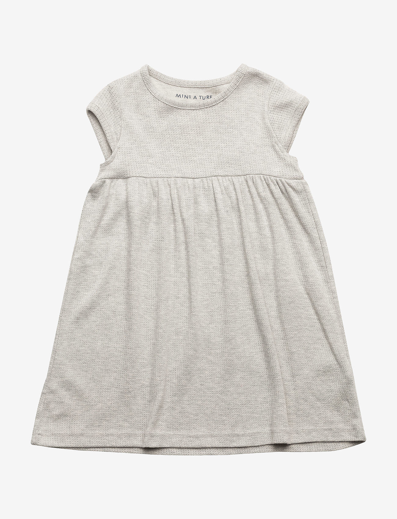 Mini A Ture - Else SS Dress, BM - kjoler - light grey melange - 0