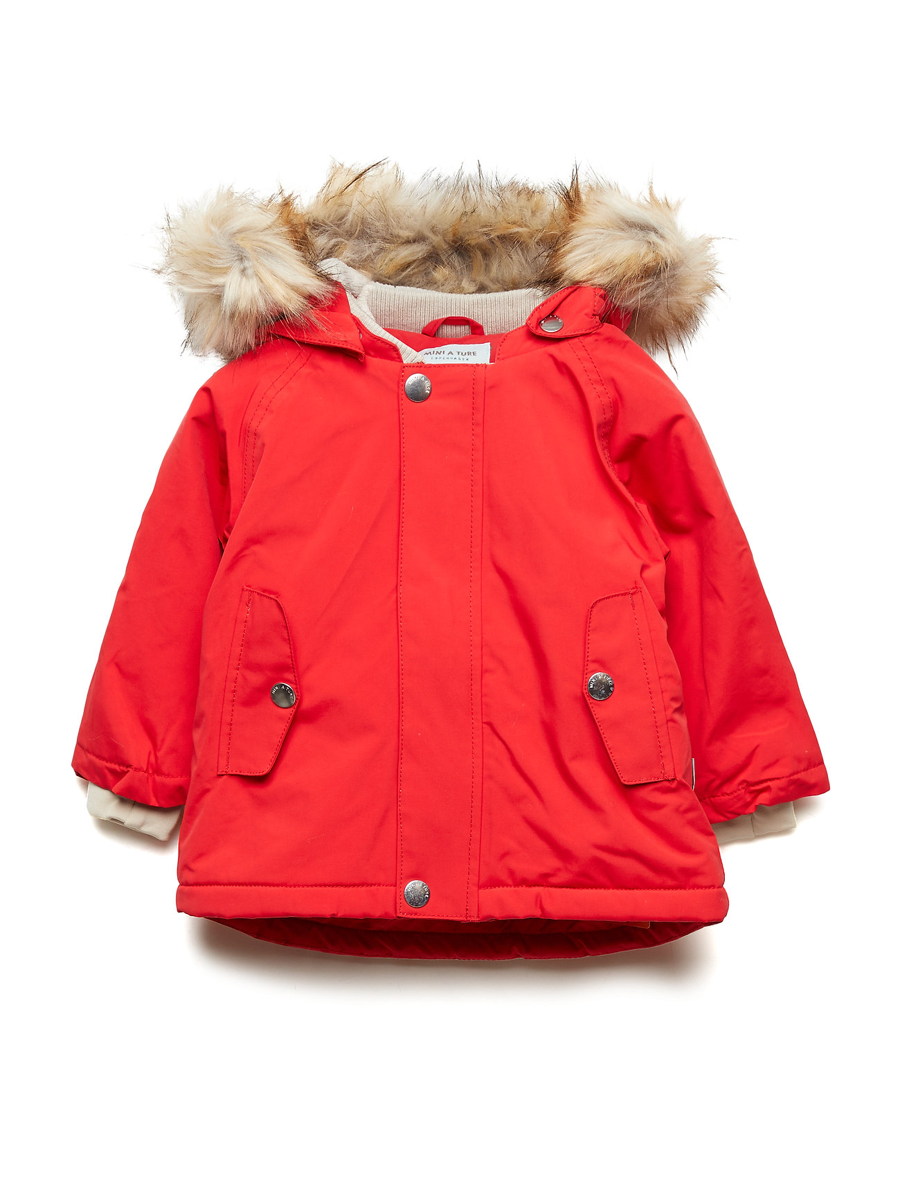 Mini A Ture Wally Faux Fur Jacket, M - CHINESE RED