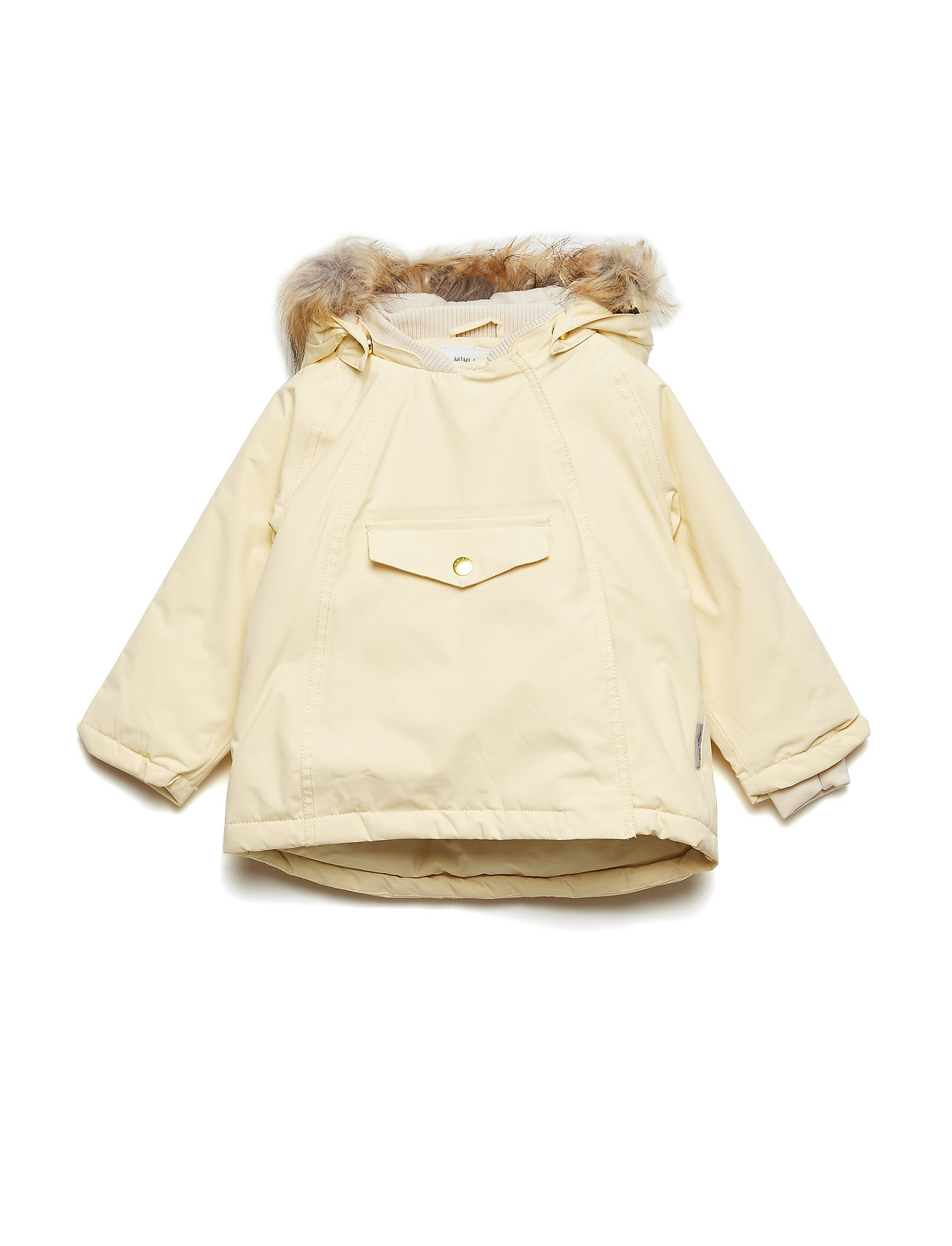 Wang Faux Fur Jacket, M Foret Jakke Gul Mini A Ture