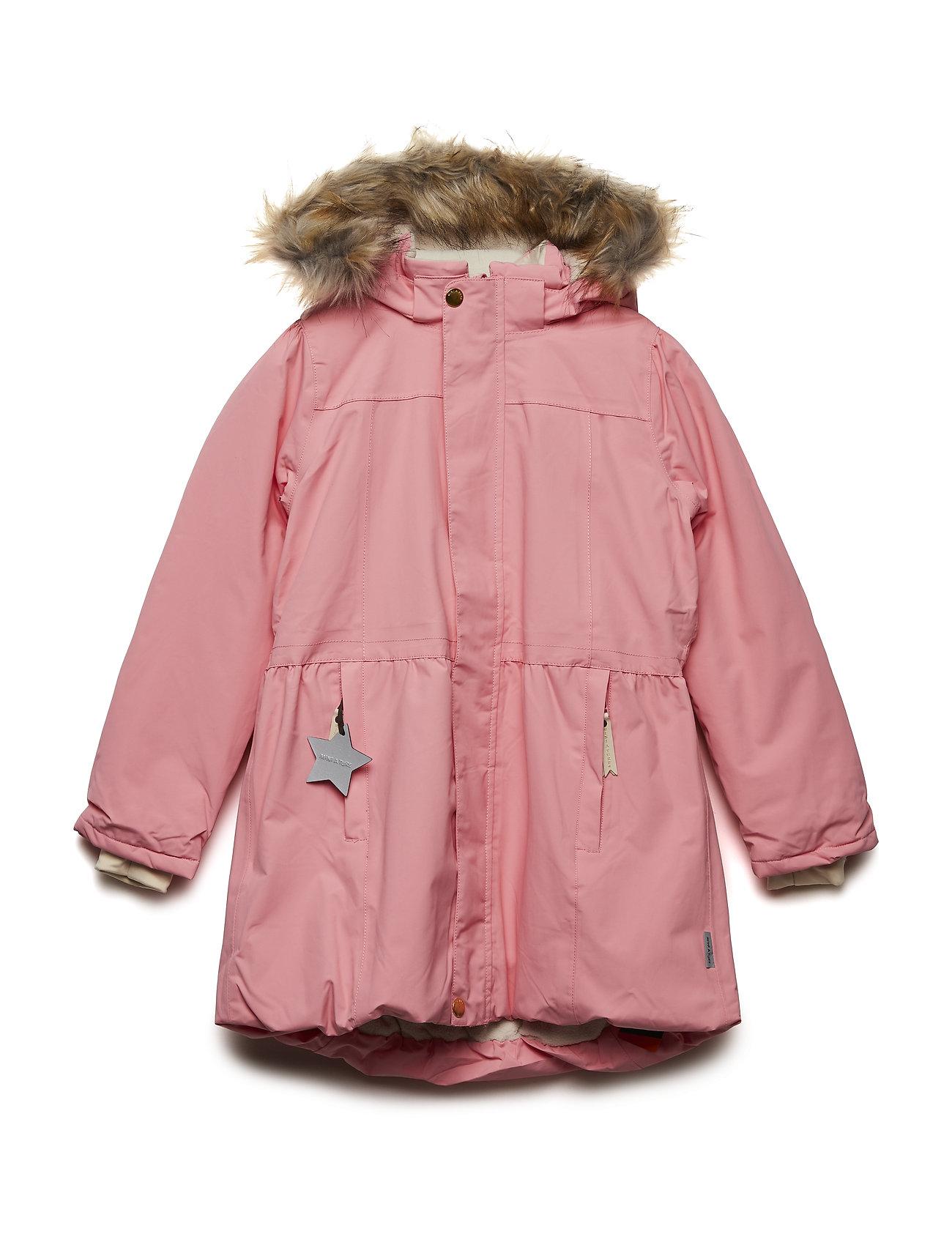 Mini A Ture Viola Faux Fur Jacket, K - GERANIUM PINK