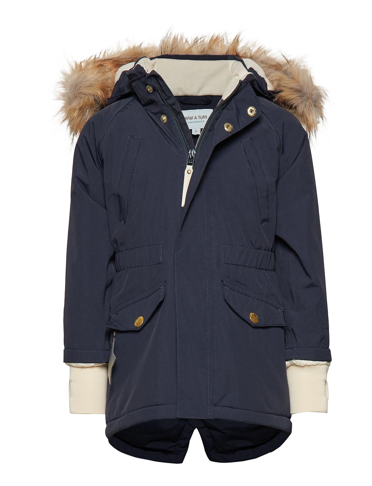 Mini A Ture Vibse Faux Fur Jacket, K - SKY CAPTAIN BLUE