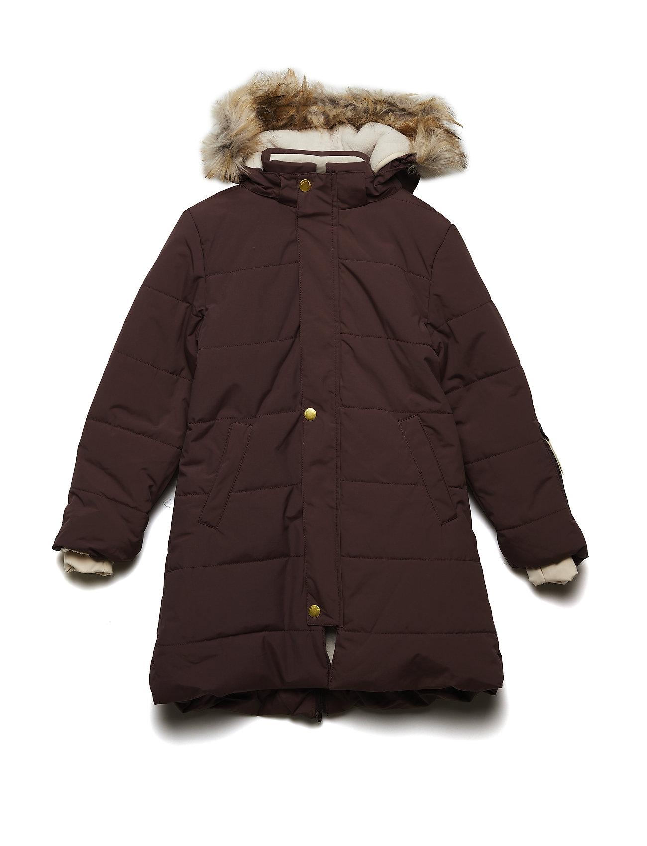 Mini A Ture Wega Faux Fur Jacket, K - DEEP MAHOGANY