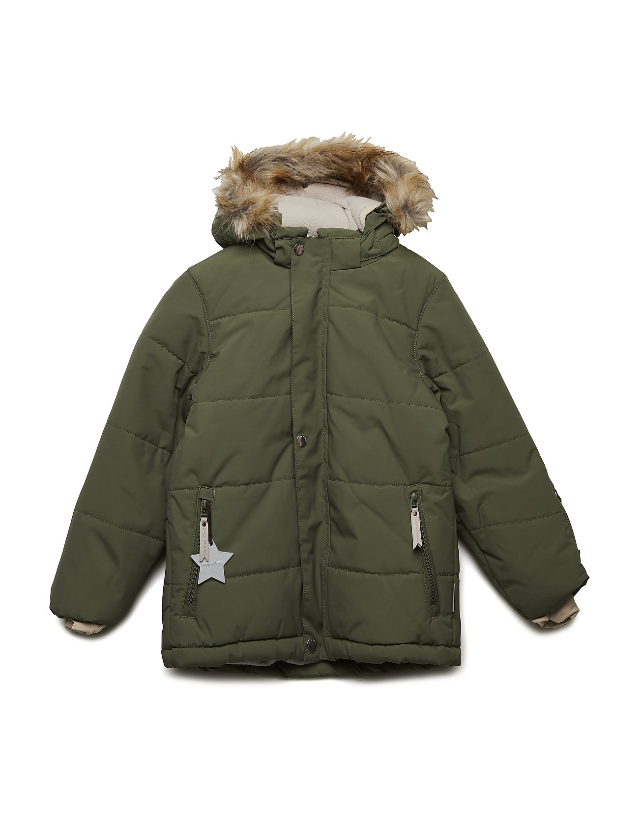 Mini A Ture Wessel Faux Fur Jacket, K - CLOVER GREEN
