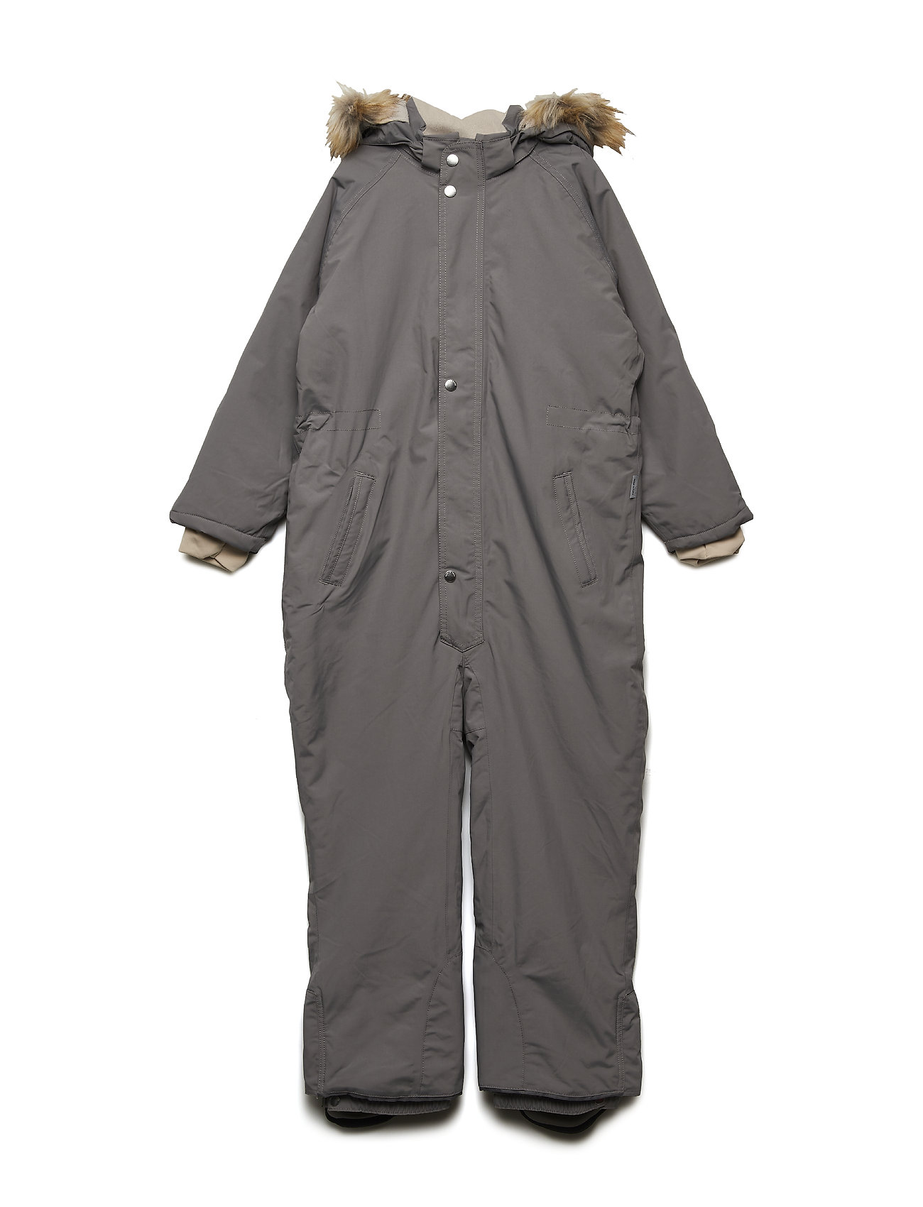 Mini A Ture Wanni Faux Fur Snowsuit, K - STEEL GREY