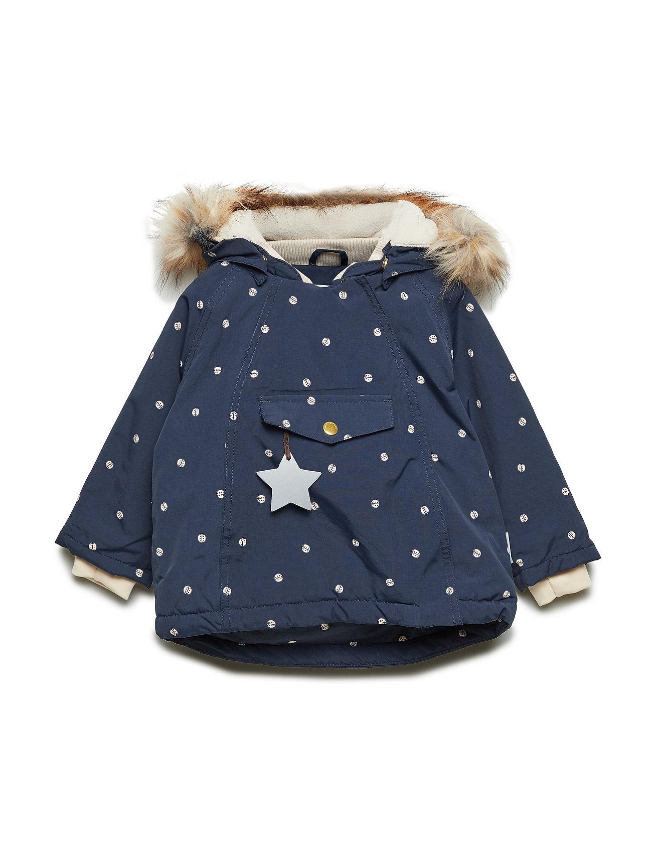 Mini A Ture Wang Faux Fur Jacket, M - SKY CAPTAIN BLUE
