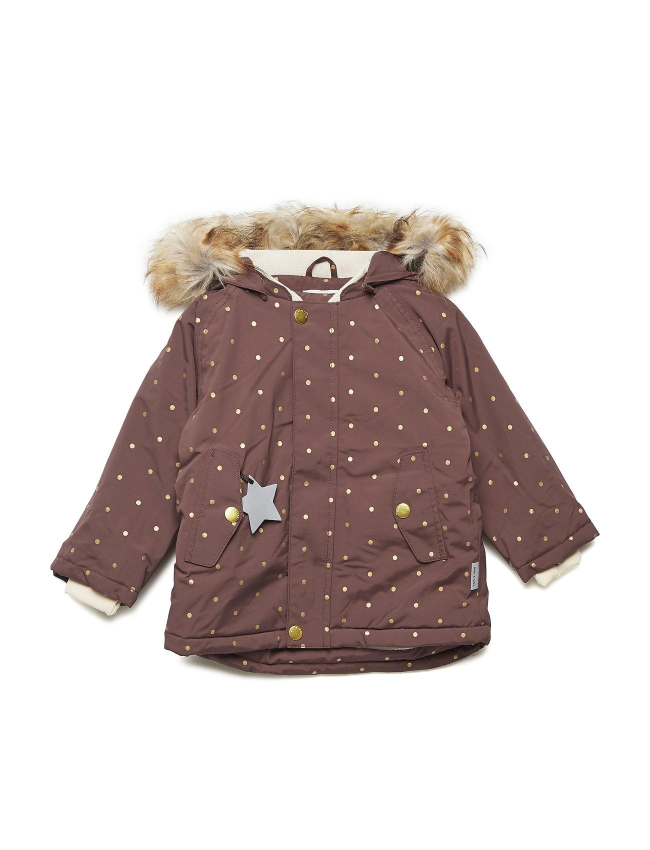 Mini A Ture Wally Faux Fur Jacket, M - DEEP MAHOGANY
