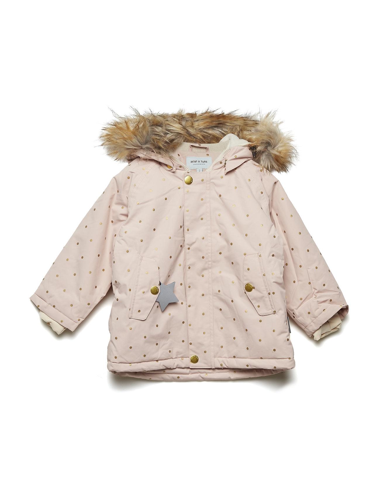 Mini A Ture Wally Faux Fur Jacket, M - ROSE SMOKE