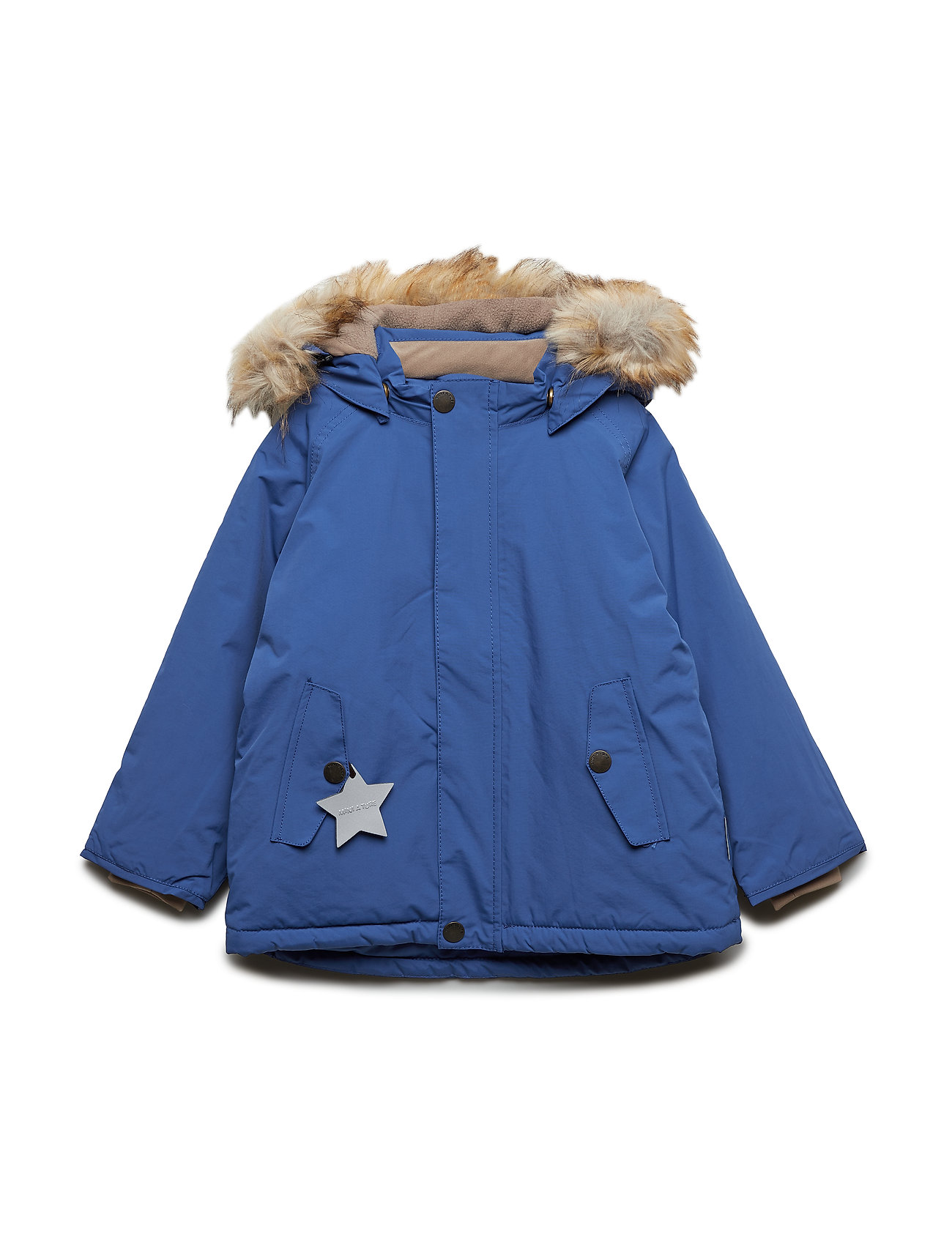 Mini A Ture Wally Faux Fur Jacket, M - BLUE QUARTZ