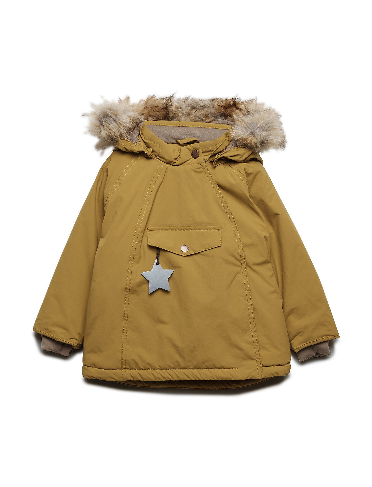 Mini A Ture Wang Faux Fur Jacket, M - DRIED TOBACCO
