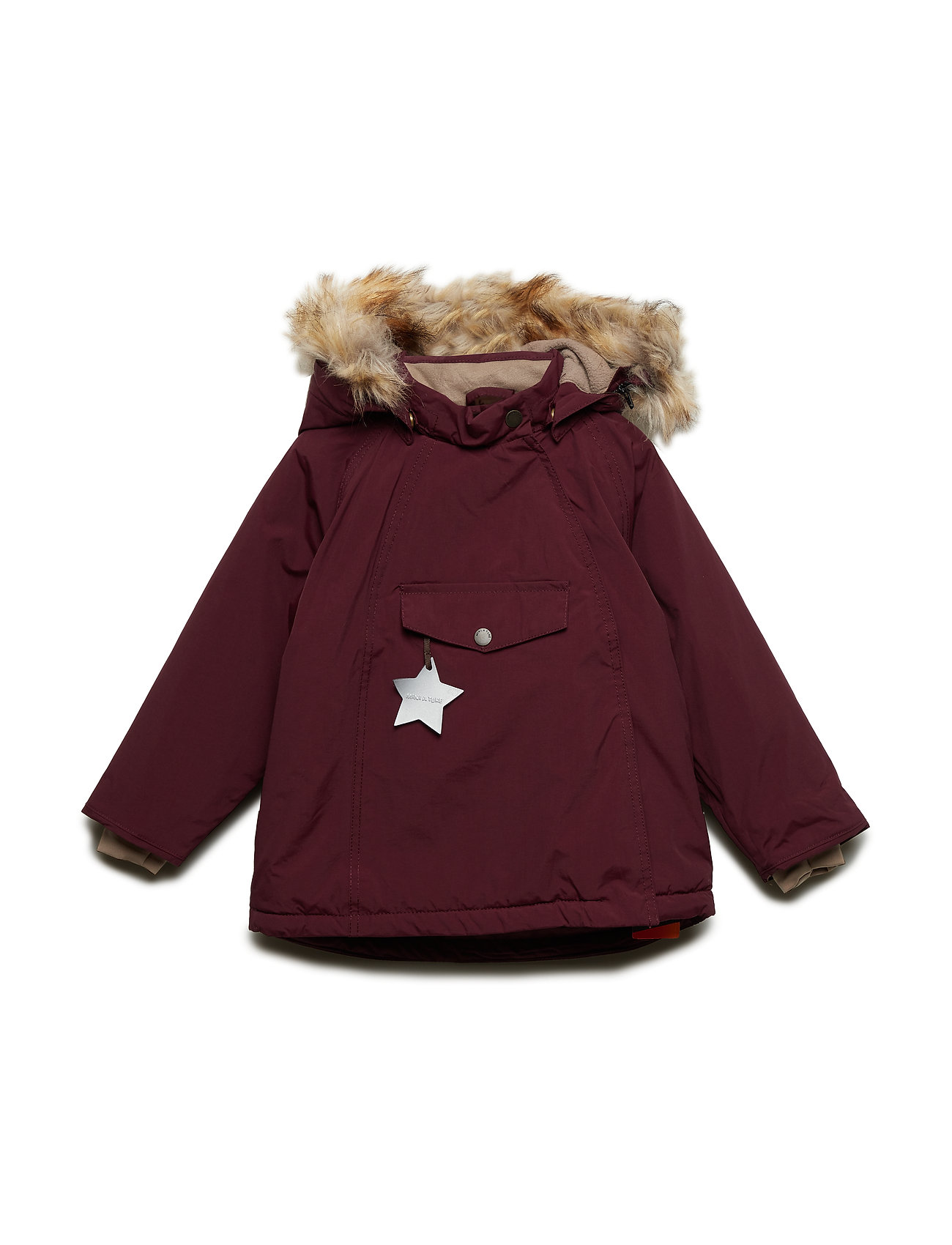 Mini A Ture Wang Faux Fur Jacket, M - WINETASTING PLUM