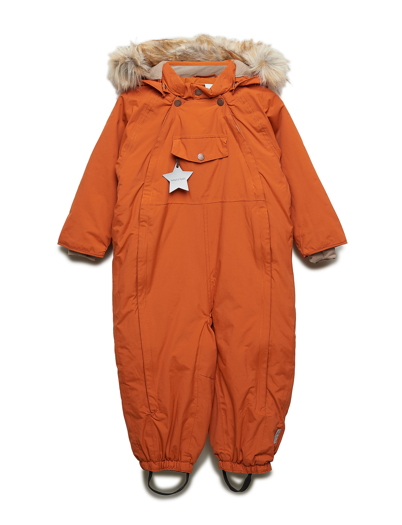 Mini A Ture Wisti Faux Fur Snowsuit, M - AUTUMNAL BROWN
