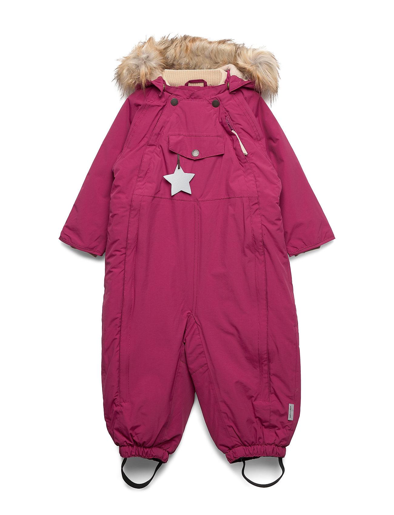 Mini A Ture Wisti Faux Fur Snowsuit, M - CHERRY