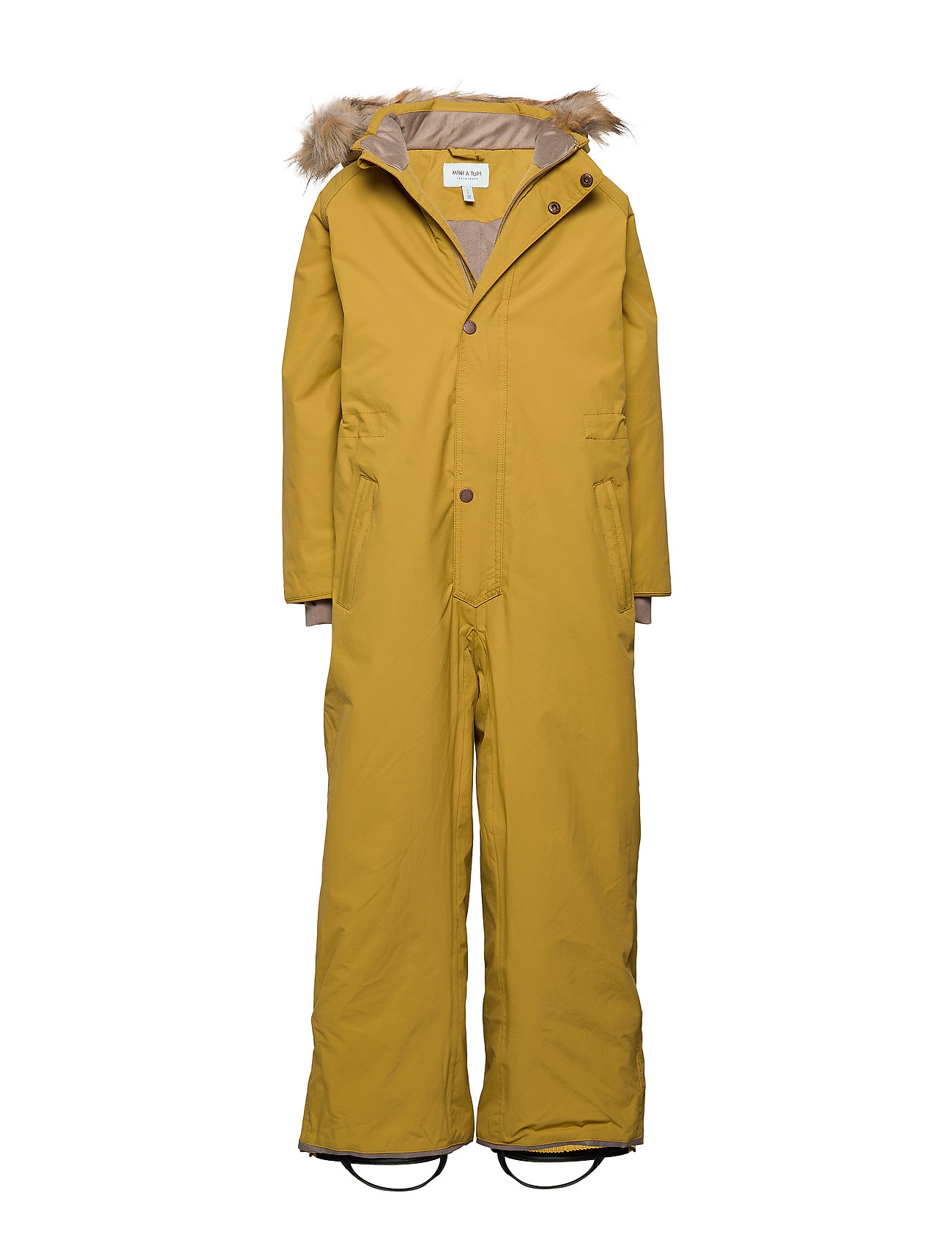 Mini A Ture Wanni Faux Fur Snowsuit, K - DRIED TOBACCO