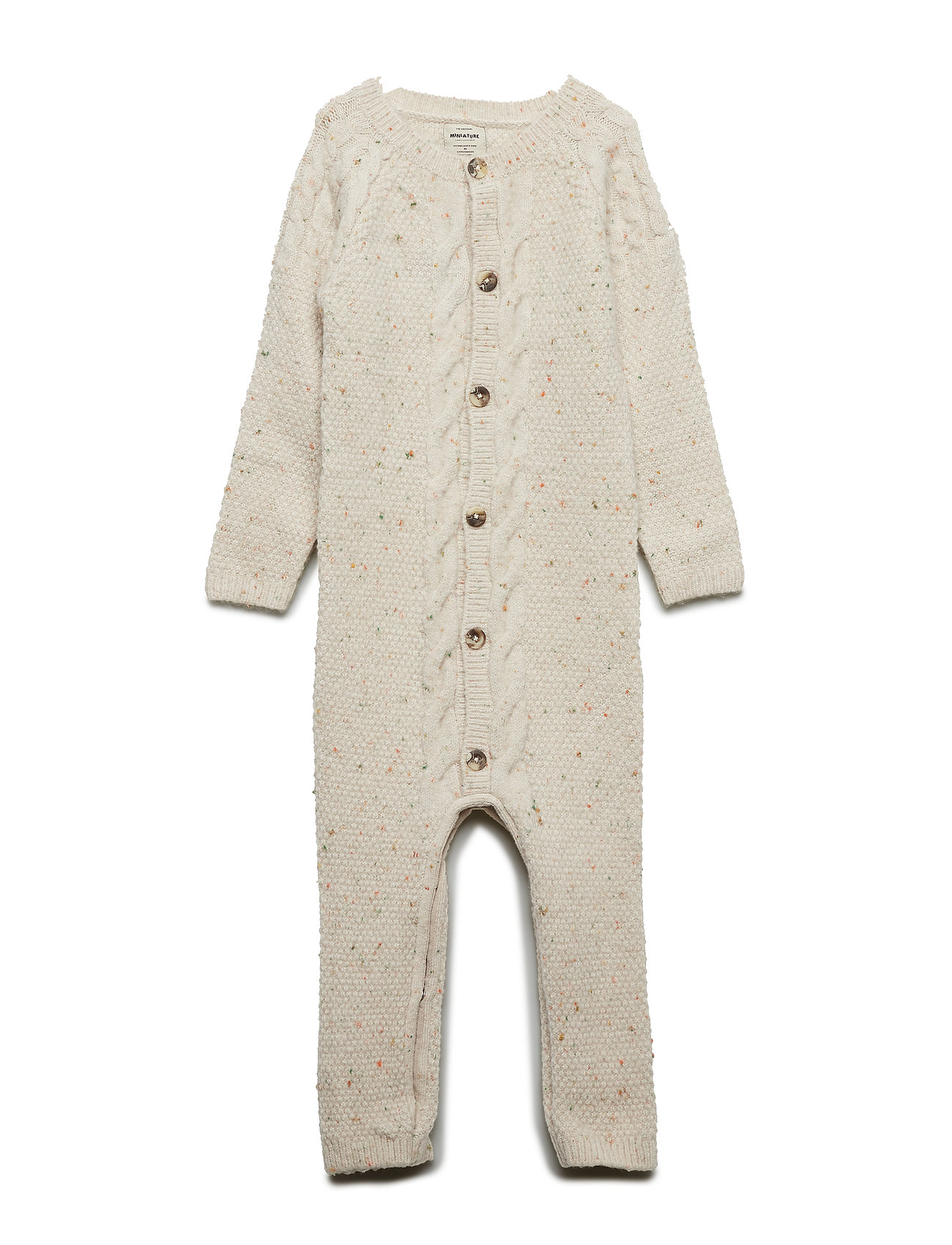 Mini A Ture Thorbjørn Romper, B - LIGHT BROWN MELANNGE