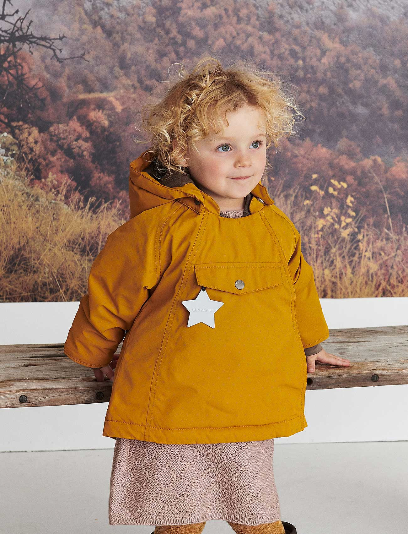 Mini A Ture - Wang Jacket, M - jassen - buckthorn brown - 0