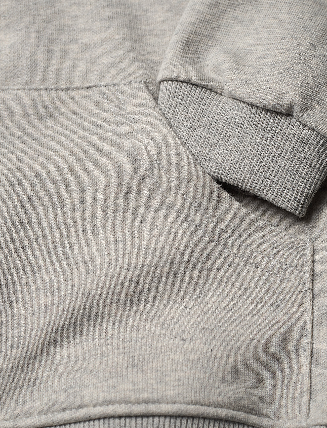 Mini A Ture - Alfi Zip Hoodie, K - hoodies - light grey melange - 3