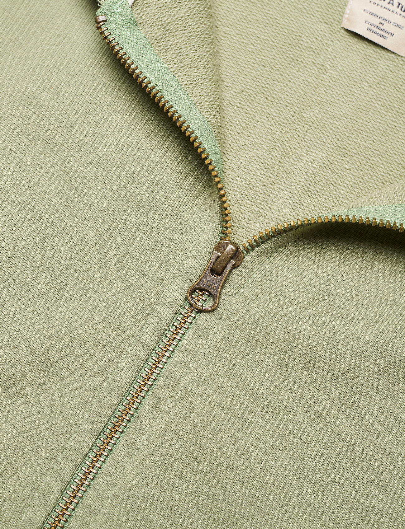 Mini A Ture - Alfi Zip Hoodie, K - sweatshirts & hættetrøjer - oil green - 2