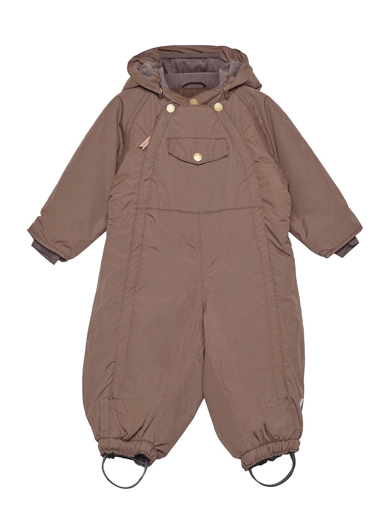 Mini A Ture - Wisti Suit, M - snowsuit - dark choco - 0