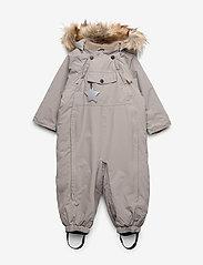 Mini A Ture - Wisti Faux Fur Snowsuit, M - vintertøj - cloudburst grey - 0